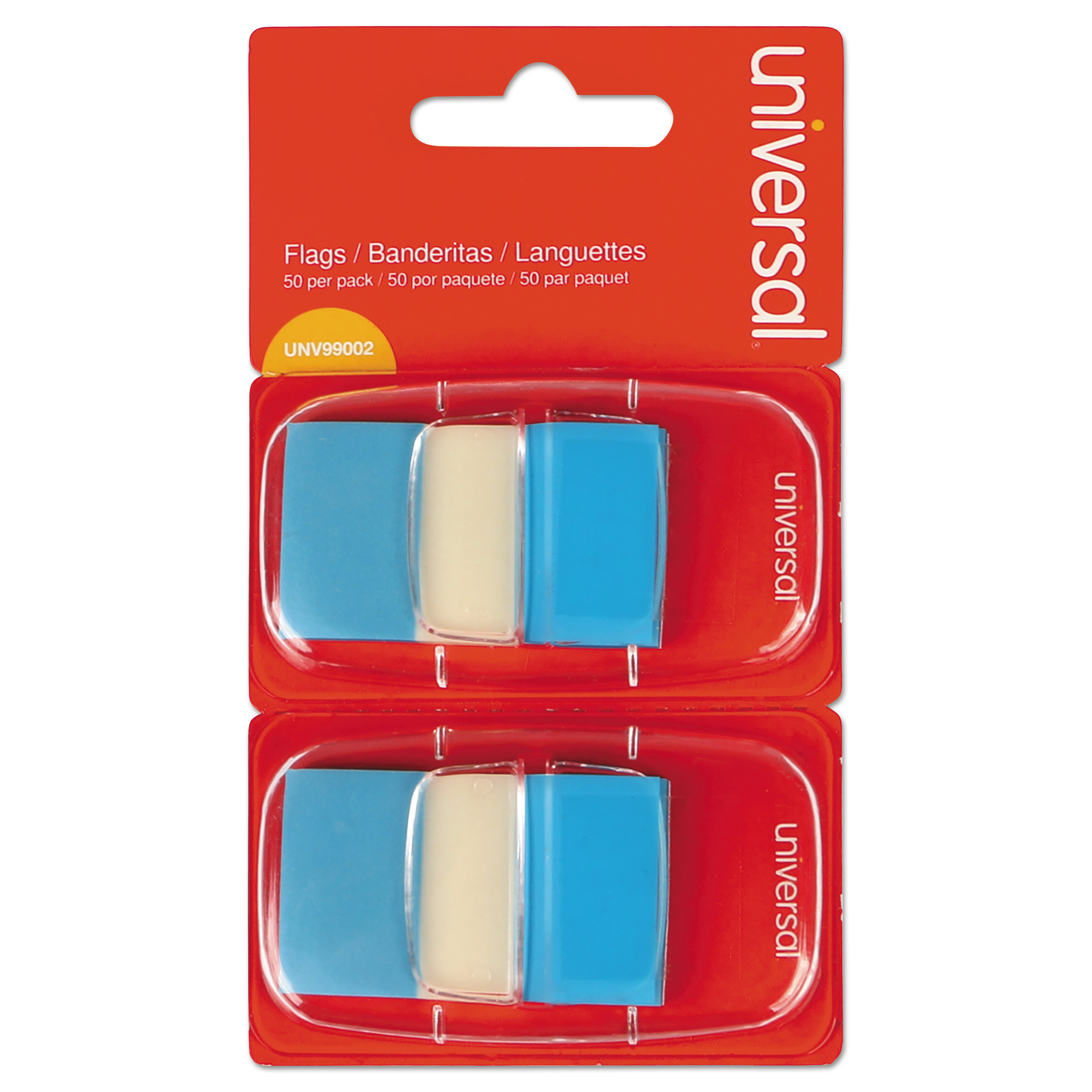 Page Flags, Blue, 50 Flags/Dispenser, 2 Dispensers/Pack