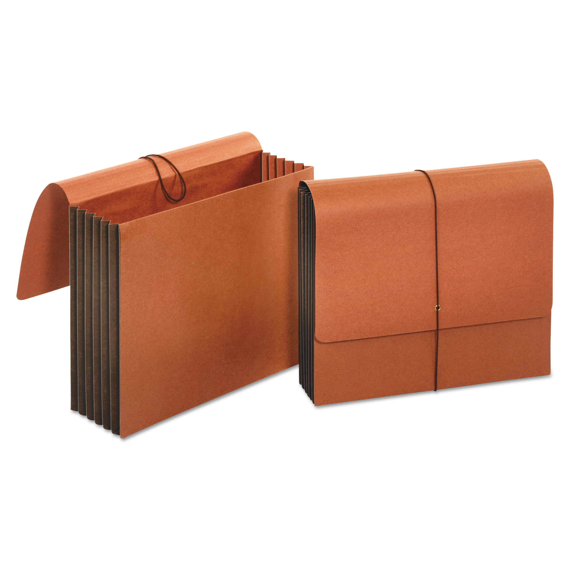 """Extra Wide Expanding Wallets, 5.25"""" Expansion, 1 Section, Letter Size, Redrope"""