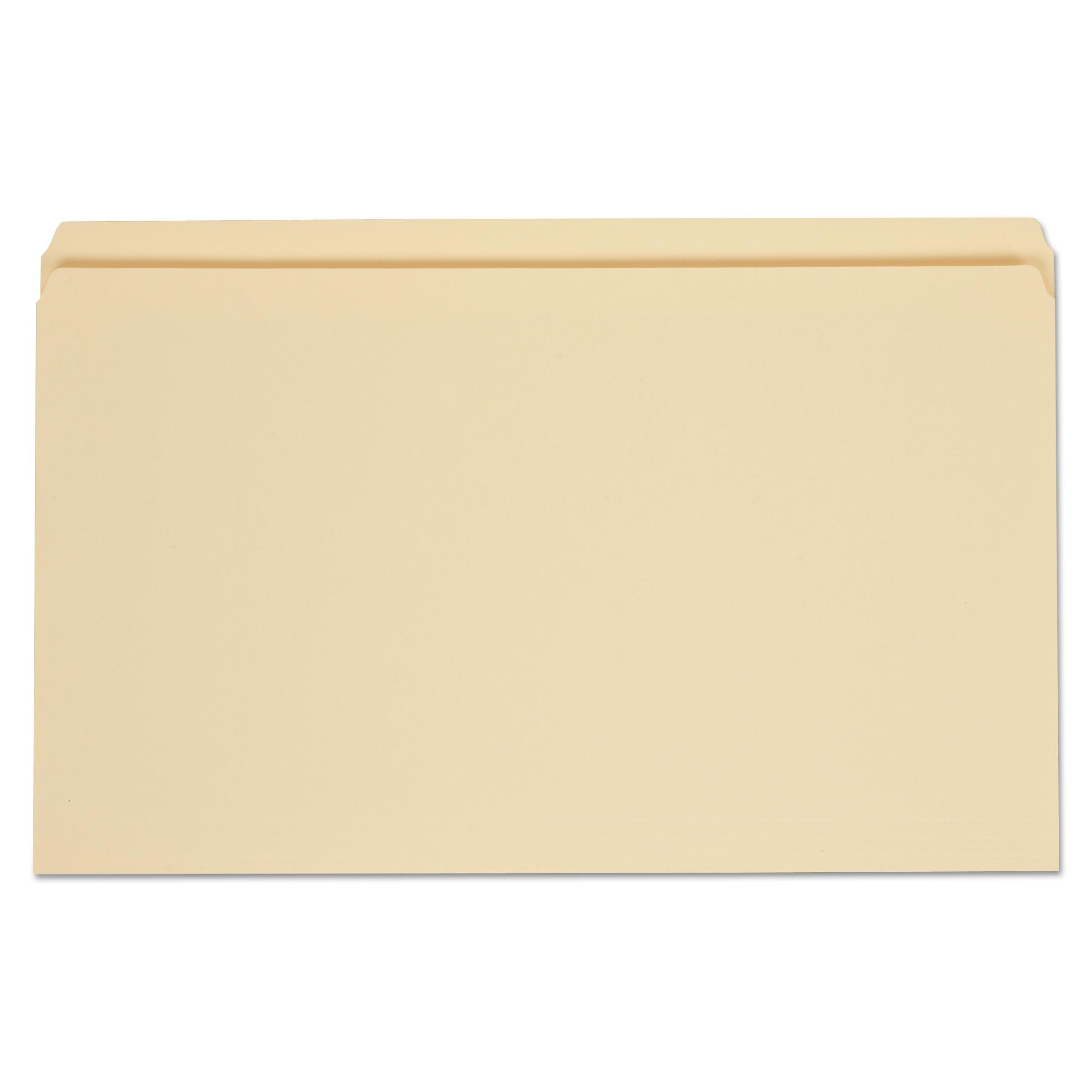 Top Tab Manila File Folders, Straight Tab, Legal Size, 11 pt. Manila, 100/Box