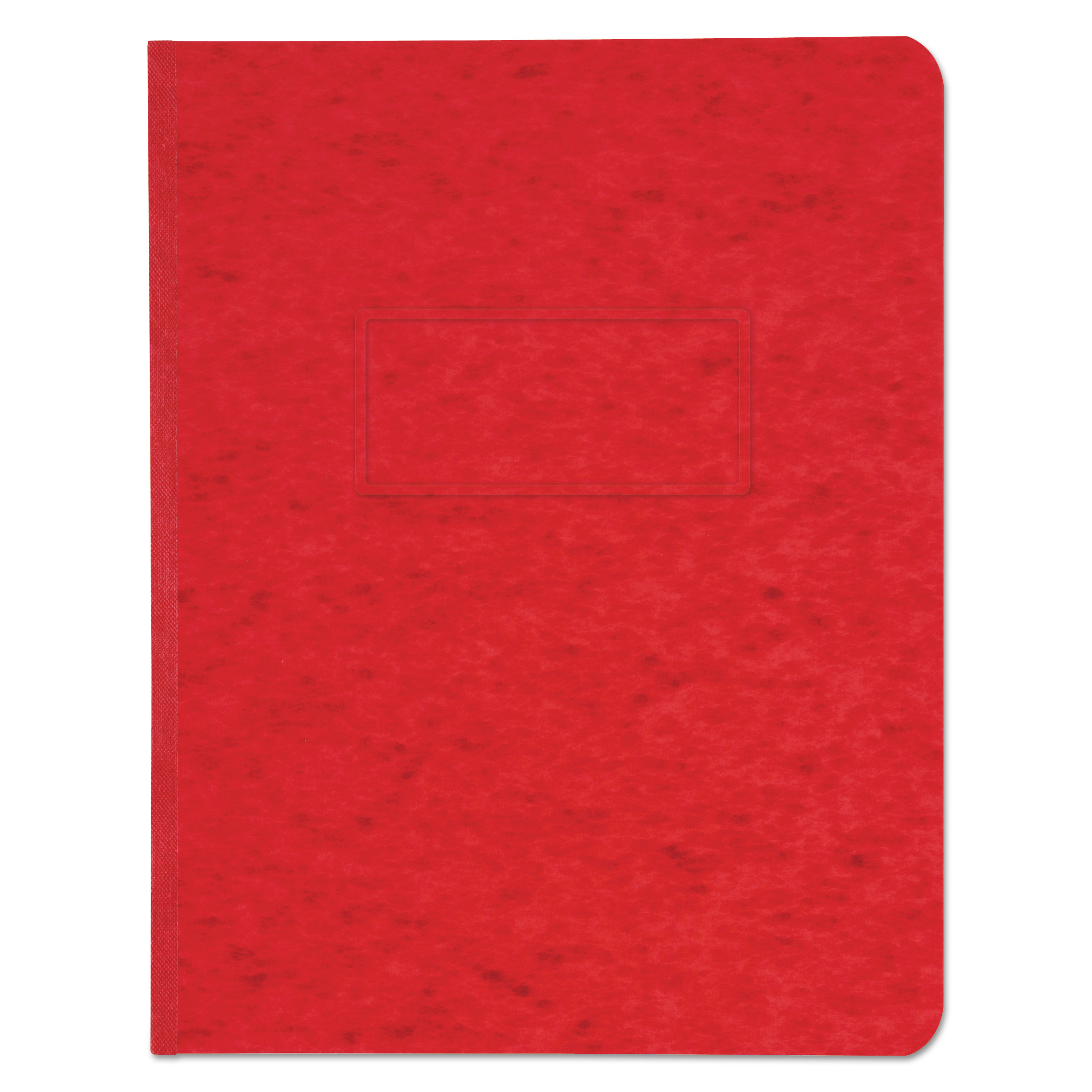 """Pressboard Report Cover, Prong Clip, Letter, 3"""" Capacity, Executive Red"""