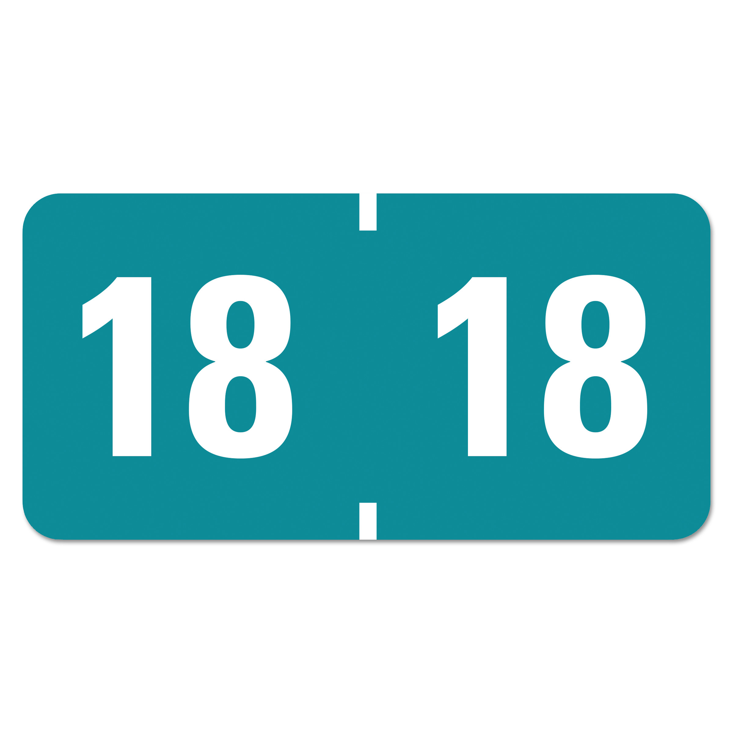 Yearly End Tab File Folder Labels, 18, 0.75 x 1.5, Teal, 500/Roll