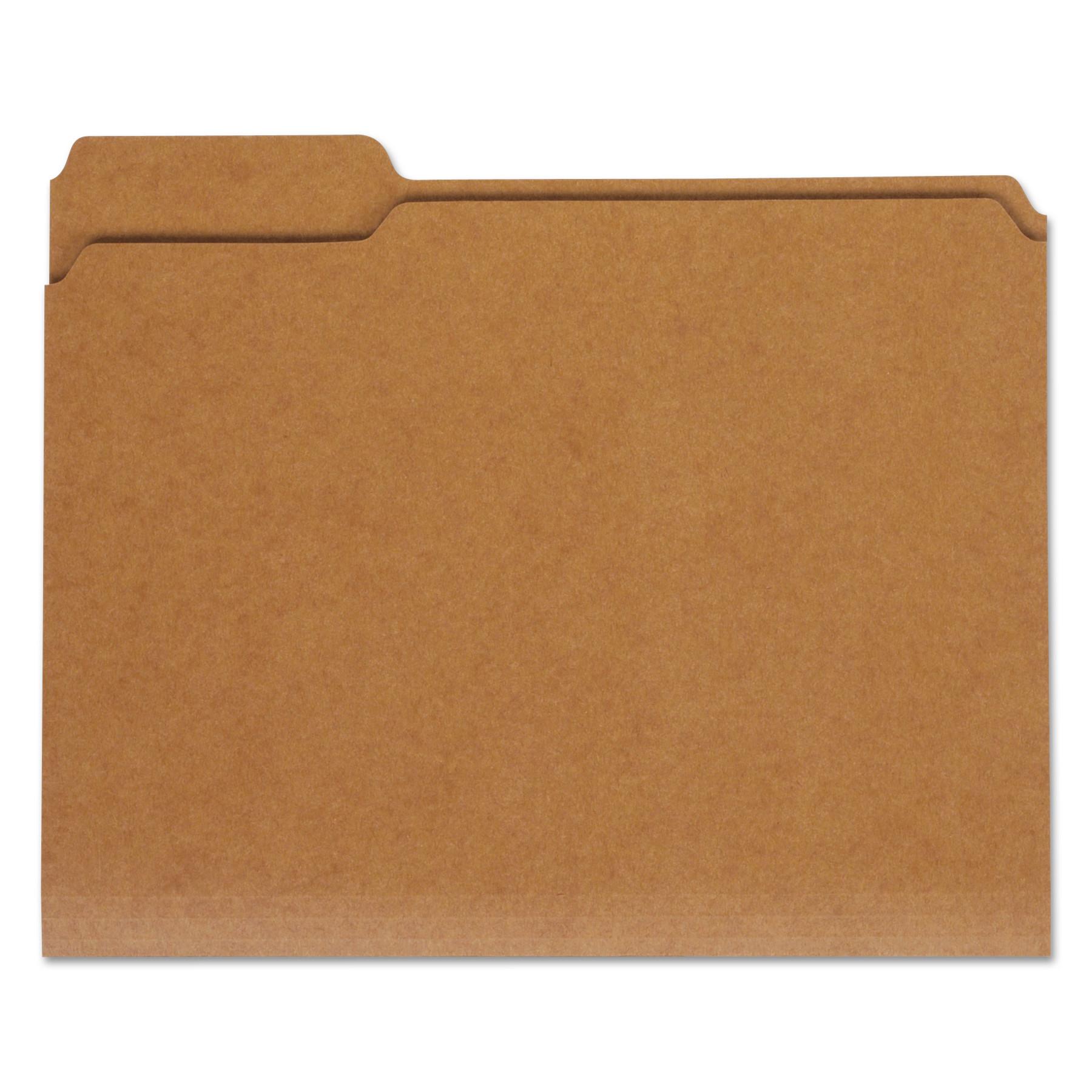 100 Pack Skilcraft Letter Size Reinforced File Folders 1//3 Cut