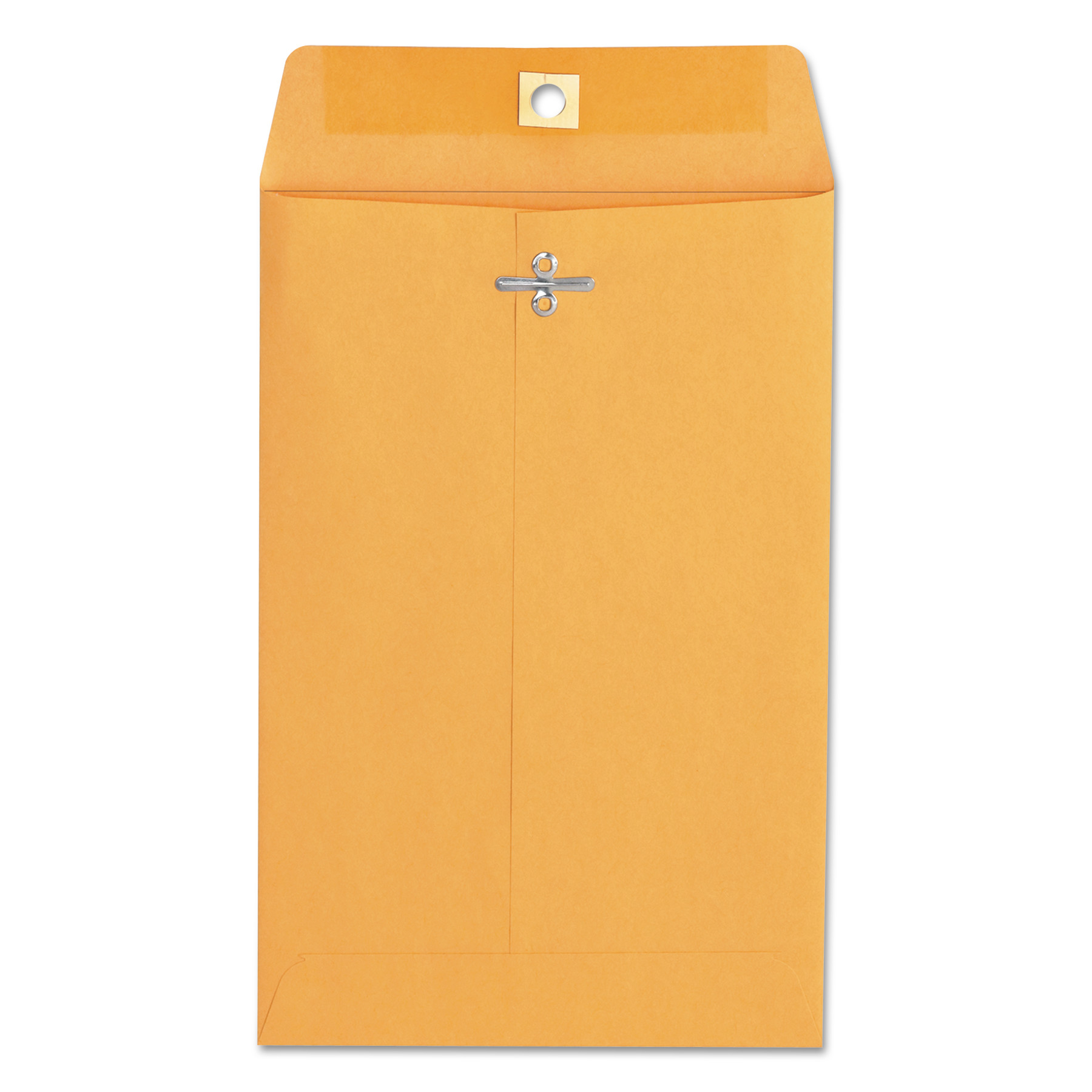 Kraft Clasp Envelope, #55, Square, Clasp/Gummed Closure, 6 x 9, Brown Kraft, 100/Box