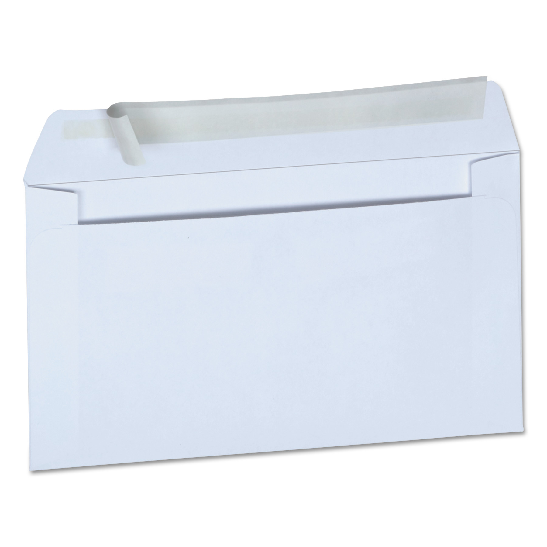 Peel Seal Strip Business Envelope, #6 3/4, Square Flap, Self-Adhesive Closure, 3.63 x 6.5, White, 100/Box