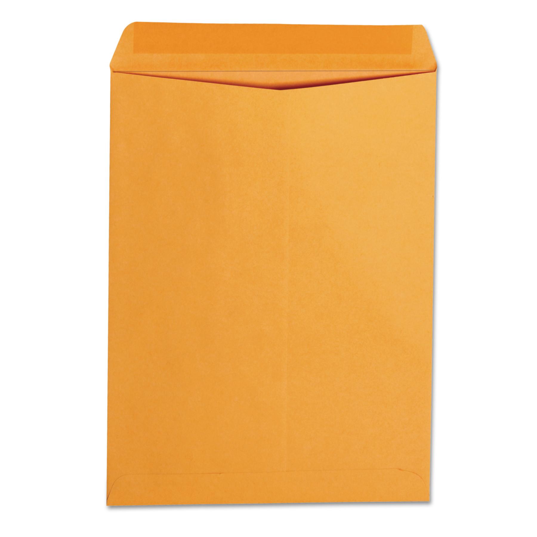 Catalog Envelope, #10 1/2, Square Flap, Gummed Closure, 9 x 12, Brown Kraft, 250/Box