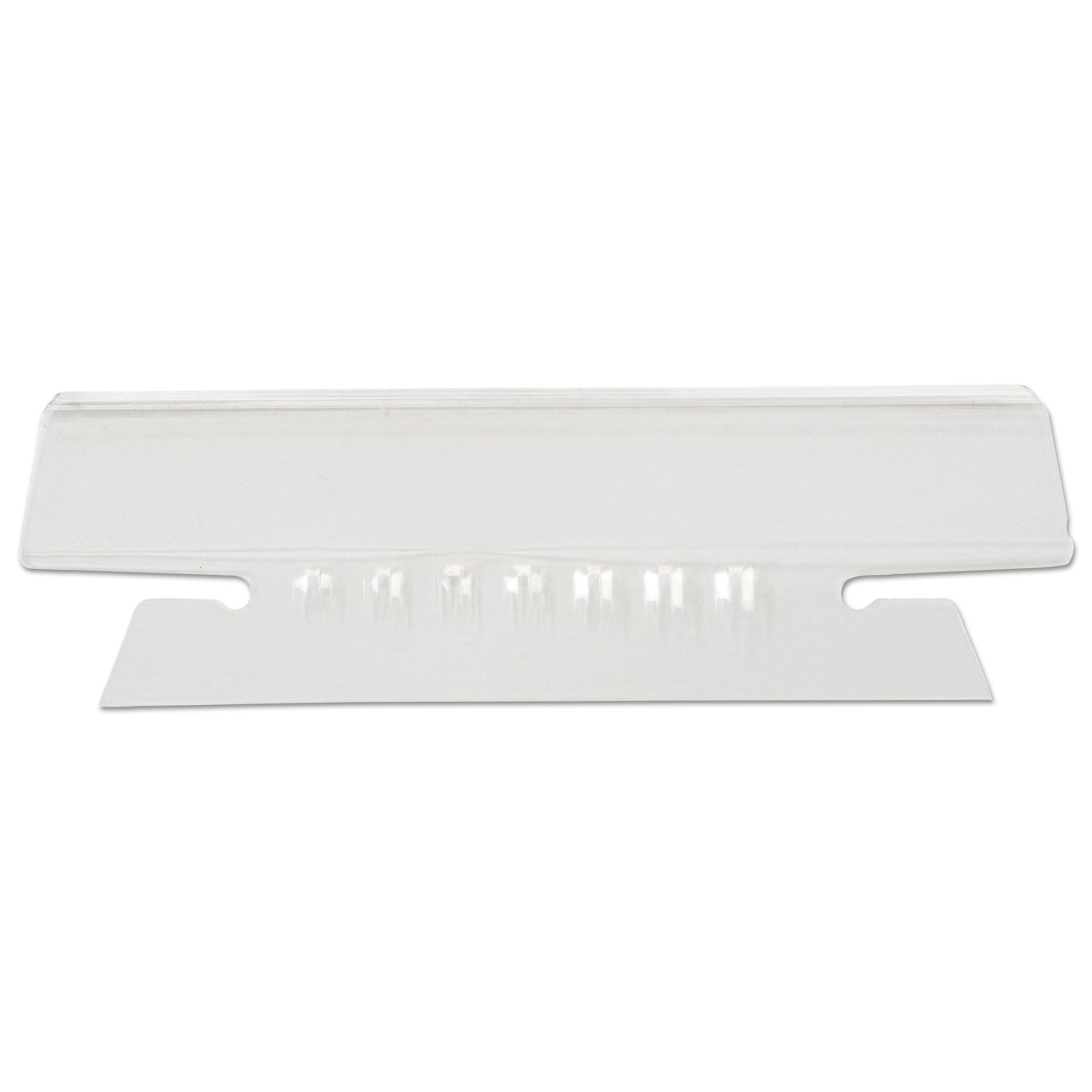 """Hanging File Folder Plastic Index Tabs, 1/3-Cut Tabs, Clear, 3.5"""" Wide, 25/Pack"""