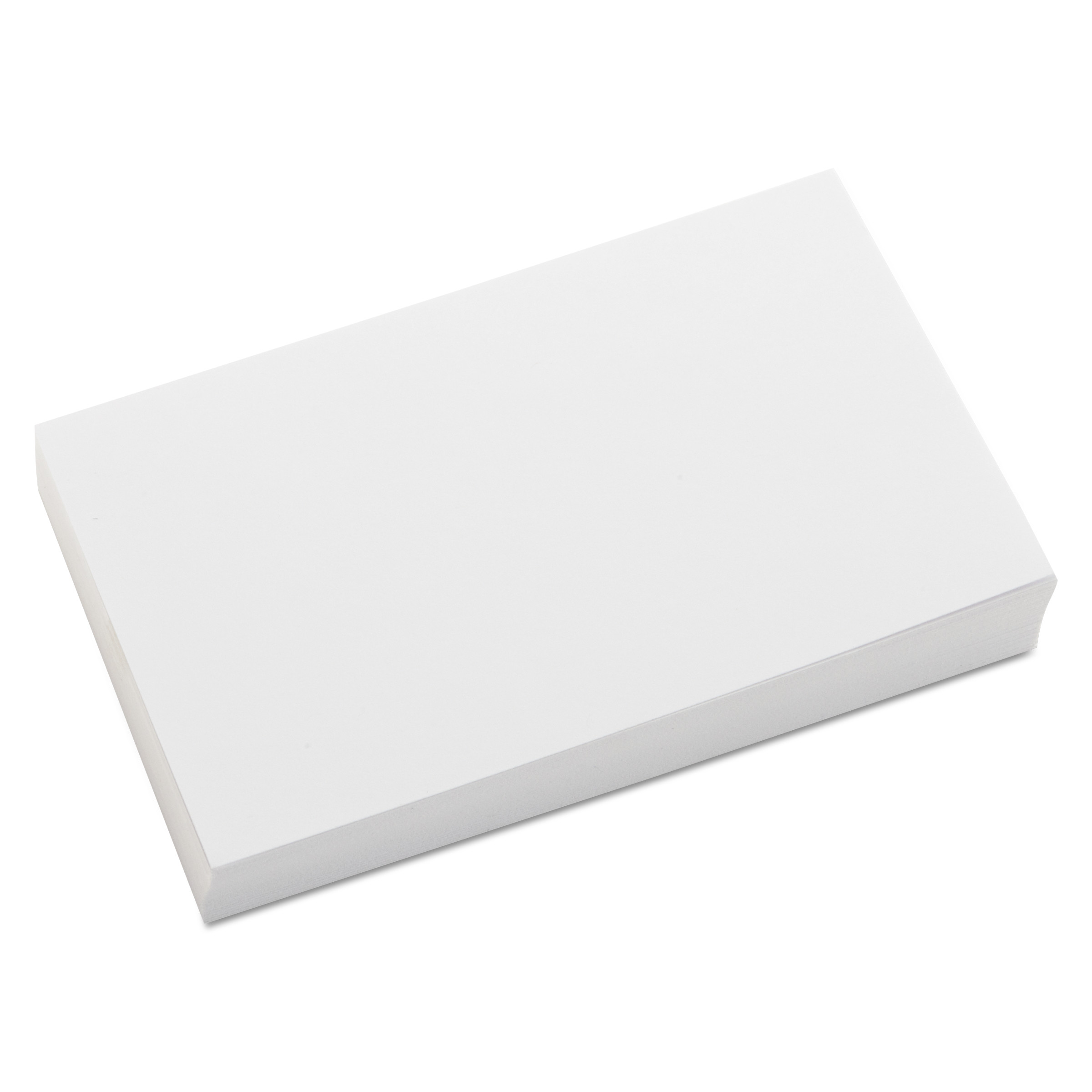 Unruled Index Cards, 3 x 5, White, 100/Pack