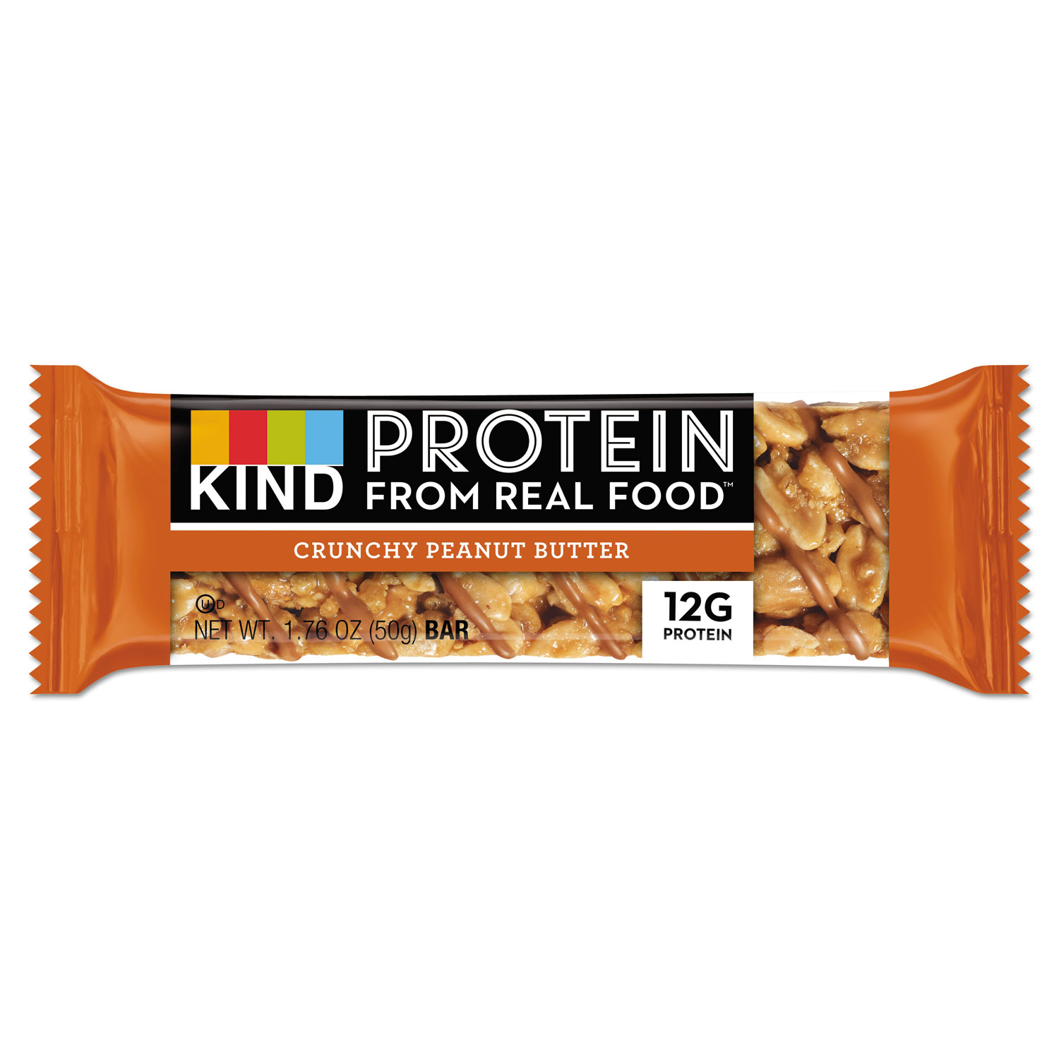 Protein Bars, Crunchy Peanut Butter, 1.76 oz, 12/Pack