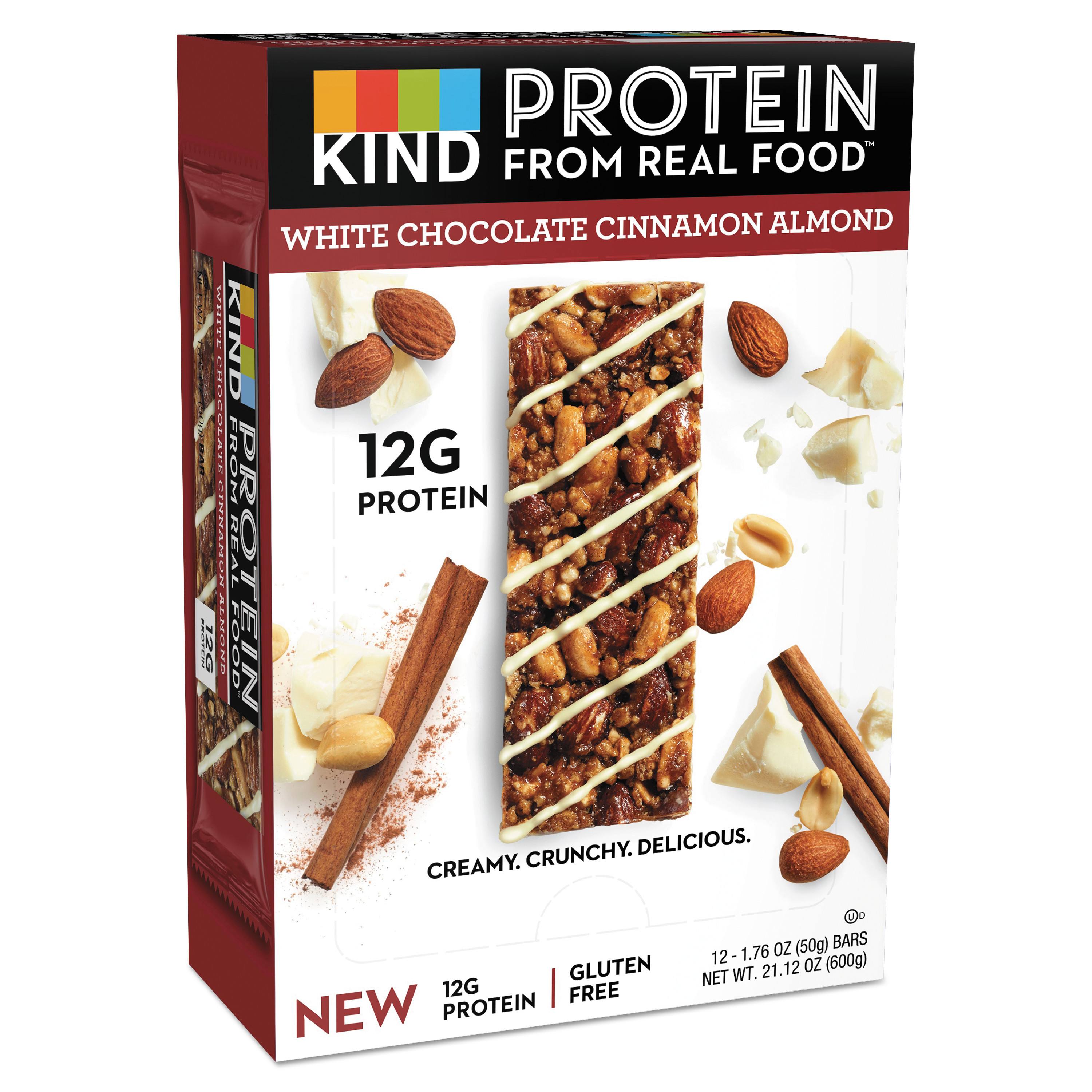 Protein Bars, White Chocolate Cinnamon Almond, 1.76 oz, 12/Pack