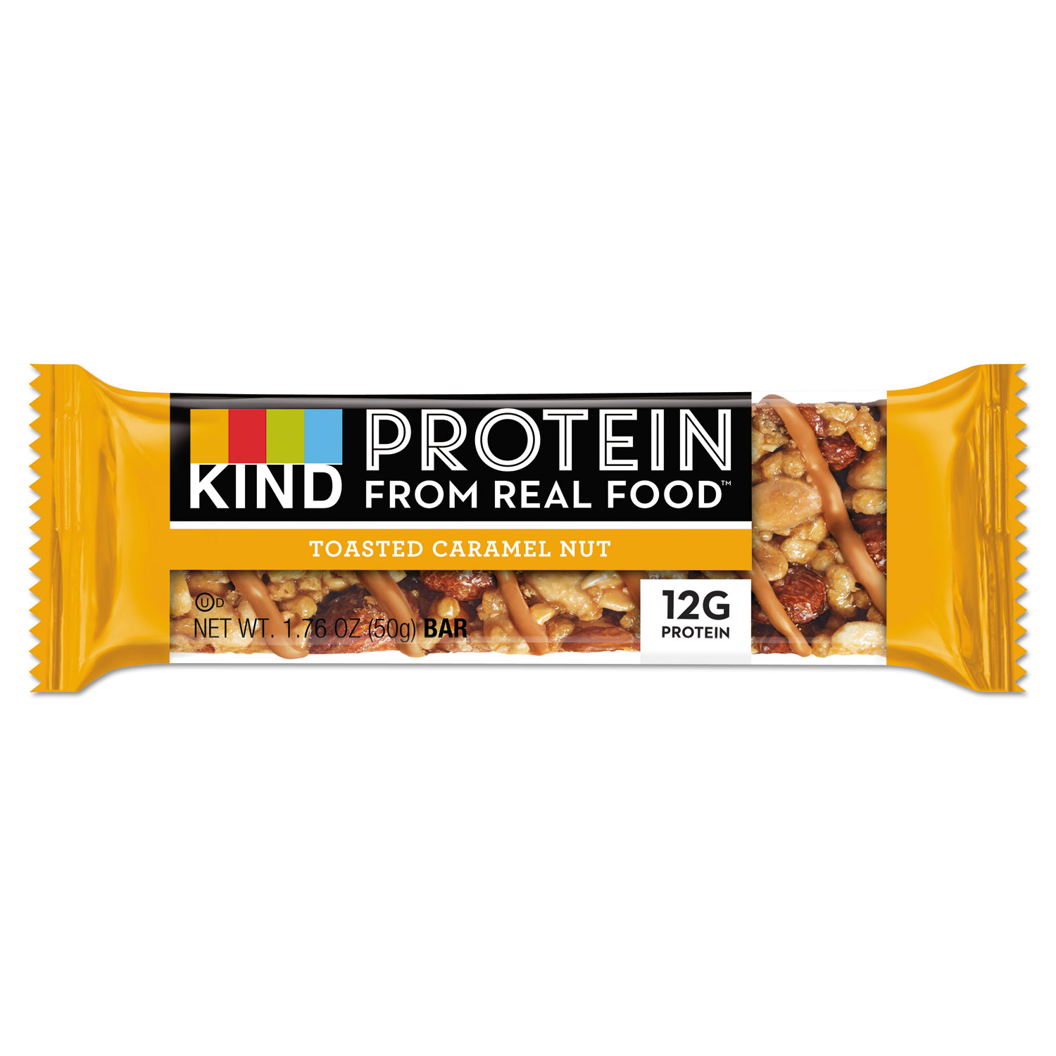 Protein Bars, Toasted Caramel Nut, 1.76 oz, 12/Pack