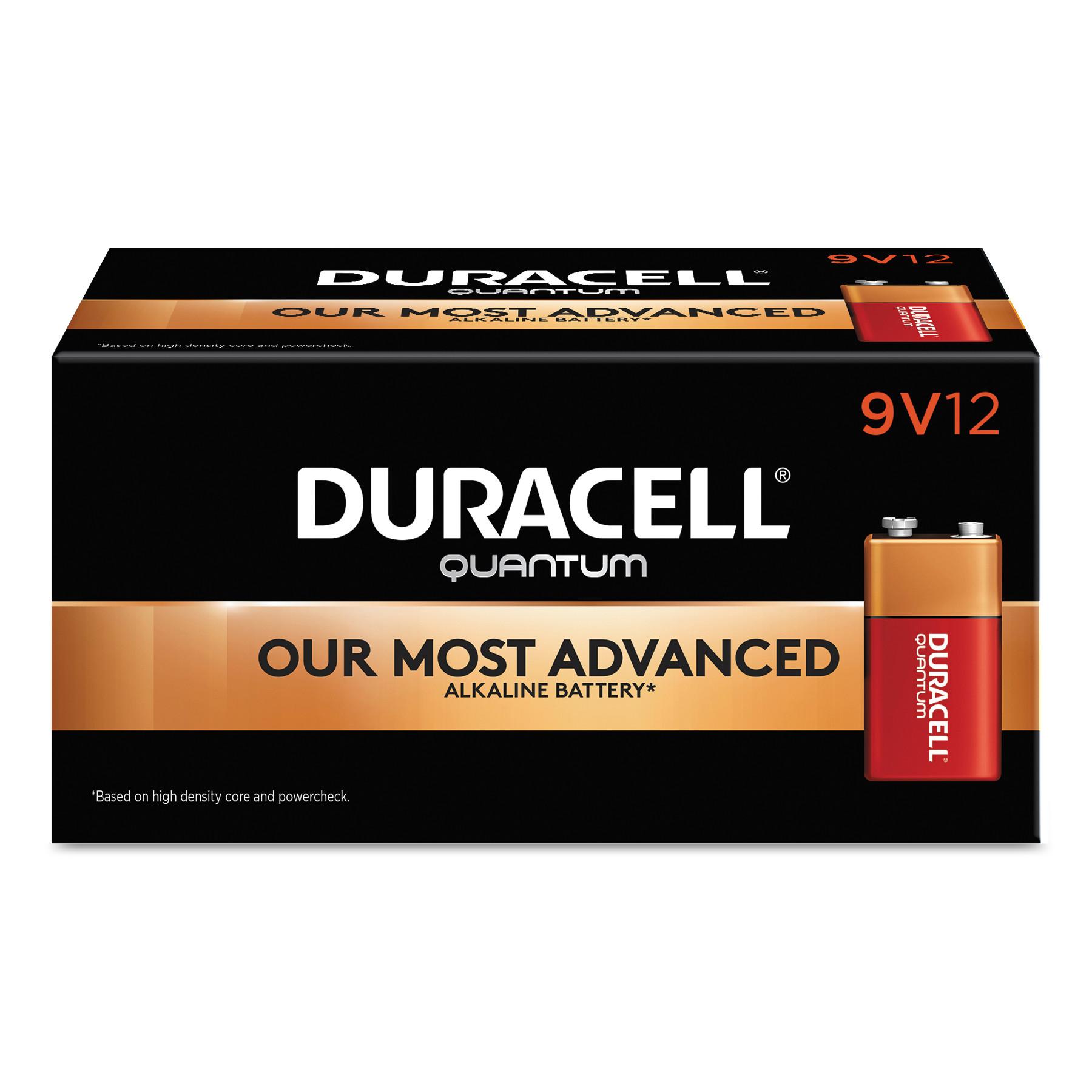 Quantum Alkaline 9V Batteries, 72/Carton