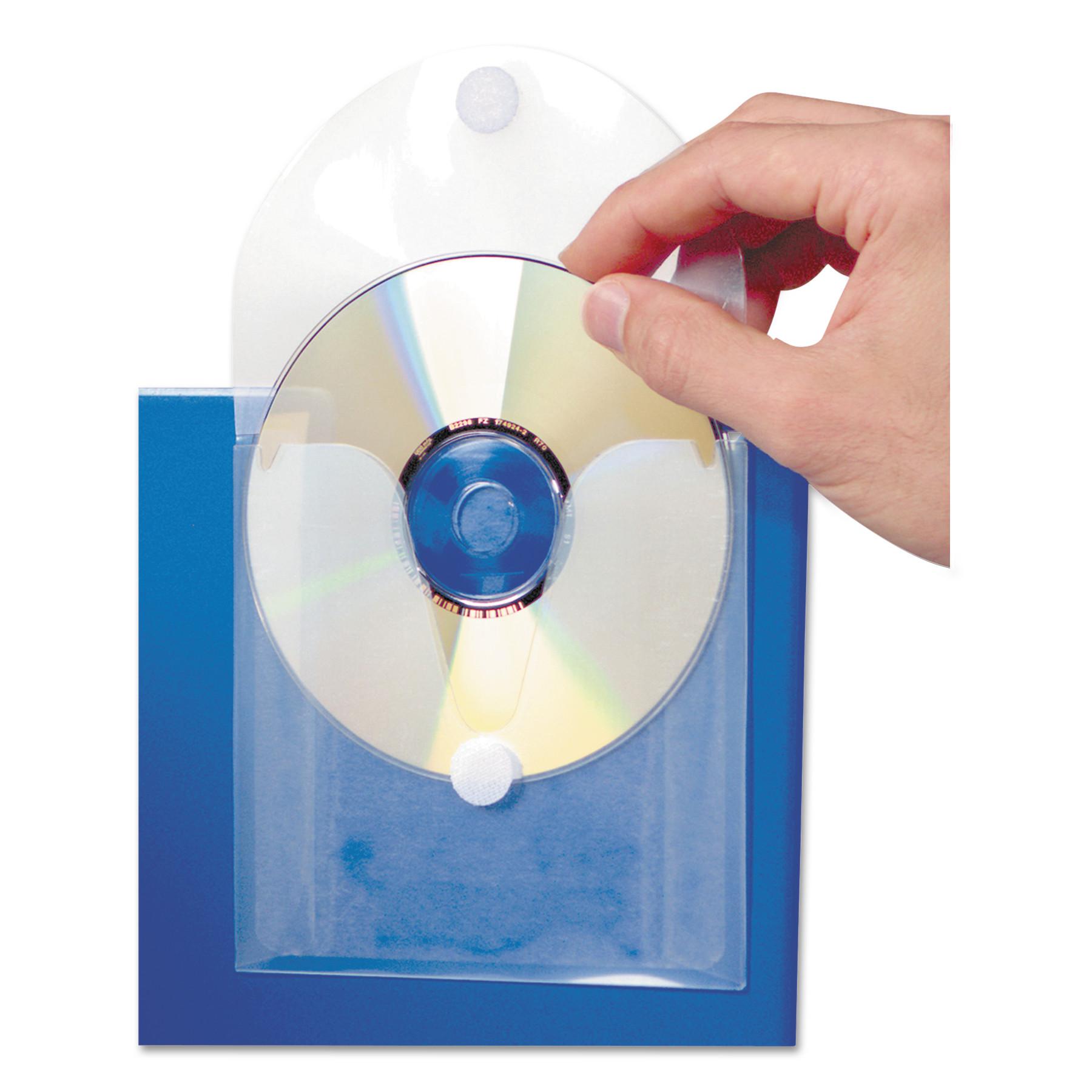 CD Pocket, Clear/White, 5/Pack