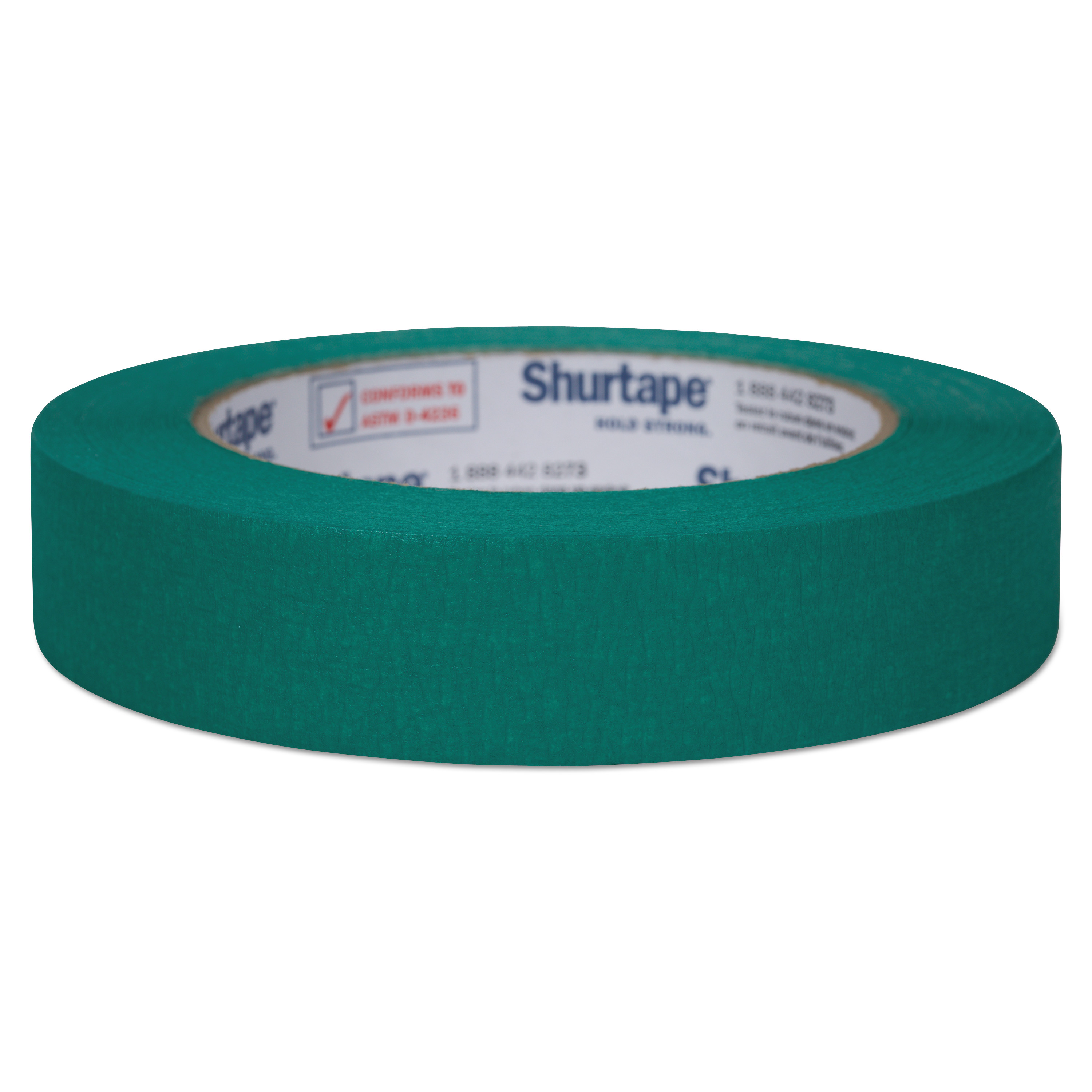 """Color Masking Tape, 3"""" Core, 0.94"""" x 60 yds, Green"""