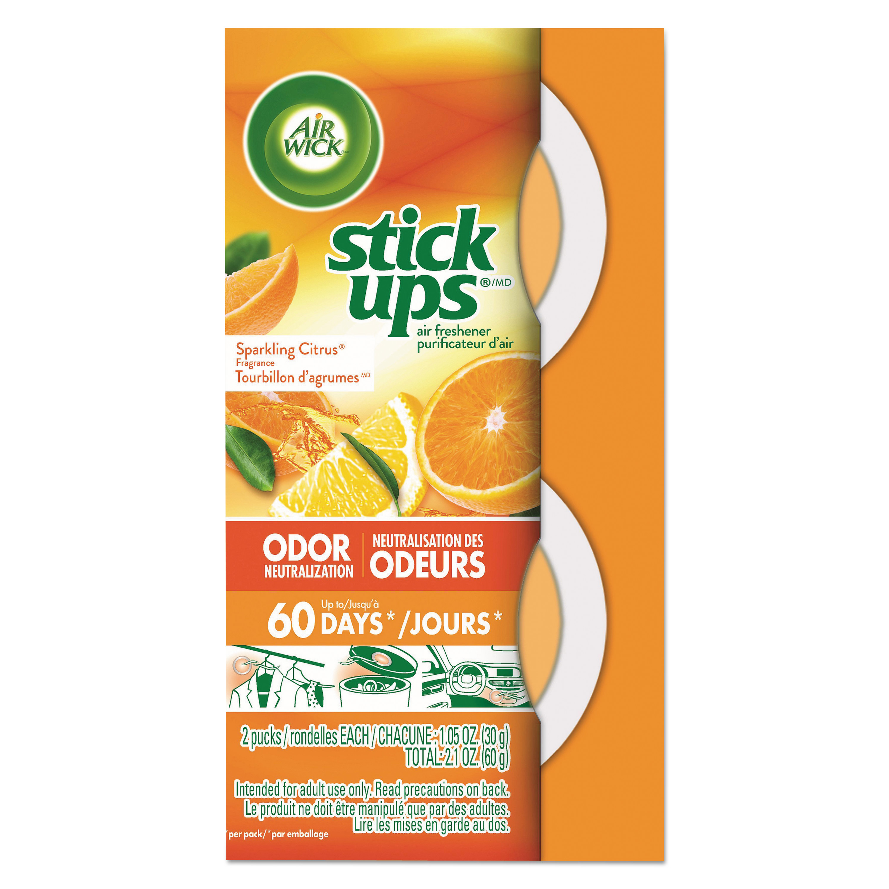 Stick Ups Air Freshener, 2.1 oz, Sparkling Citrus