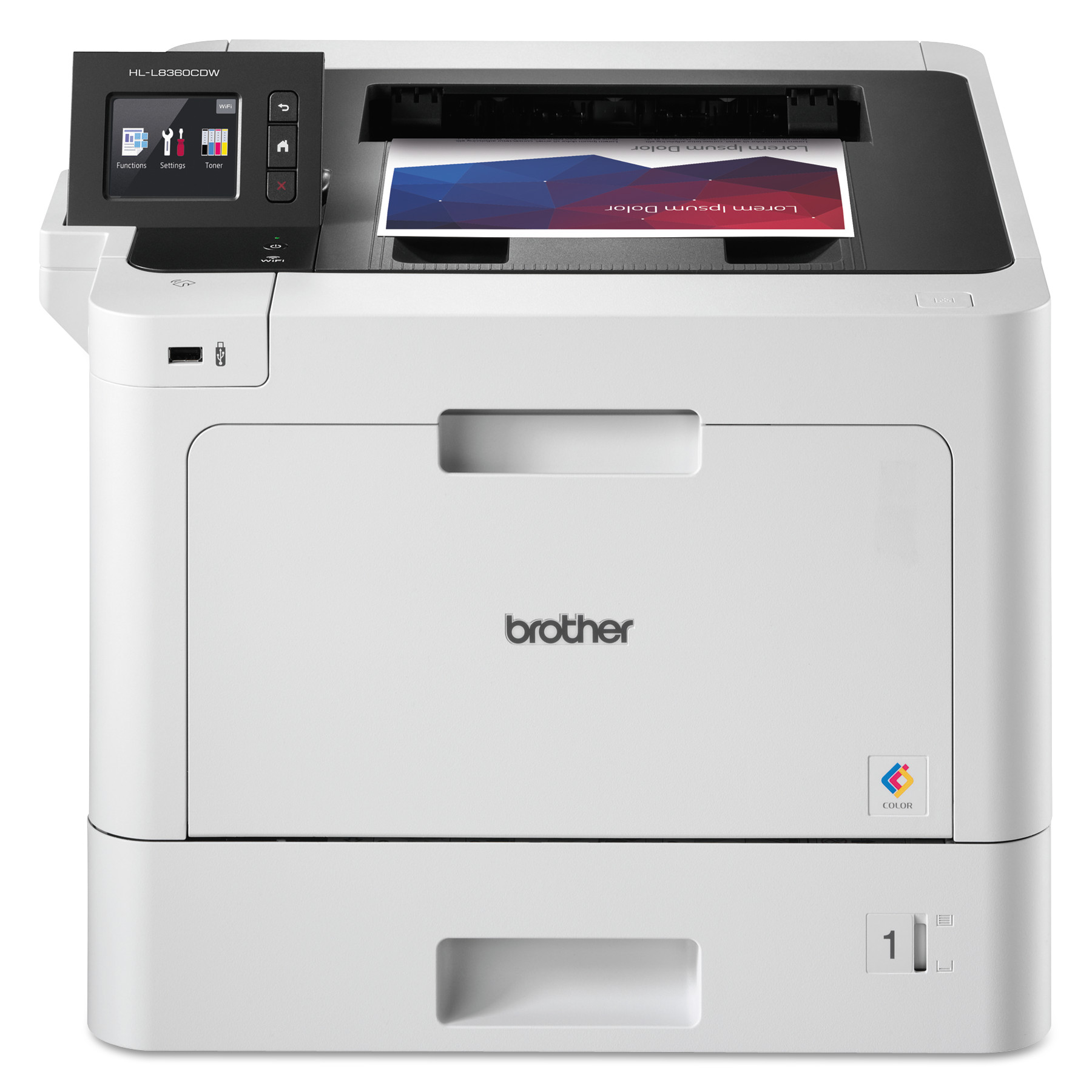 HL-L8360CDW Business Color Wireless Laser Printer, Duplex Printing