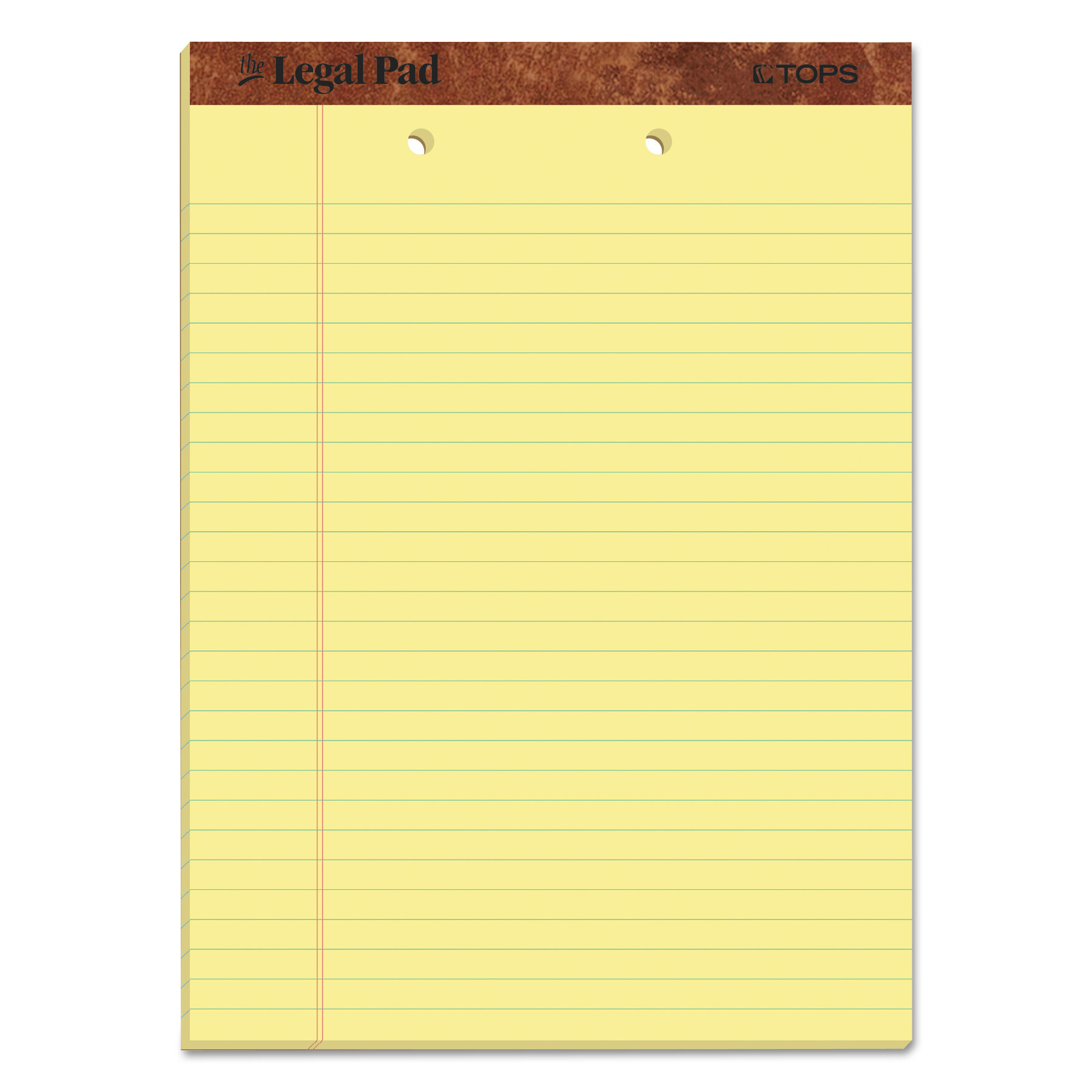 """""""The Legal Pad"""" Ruled Pads, Wide/Legal Rule, 8.5 x 11.75, Canary, 50 Sheets, Dozen TOP7531"""
