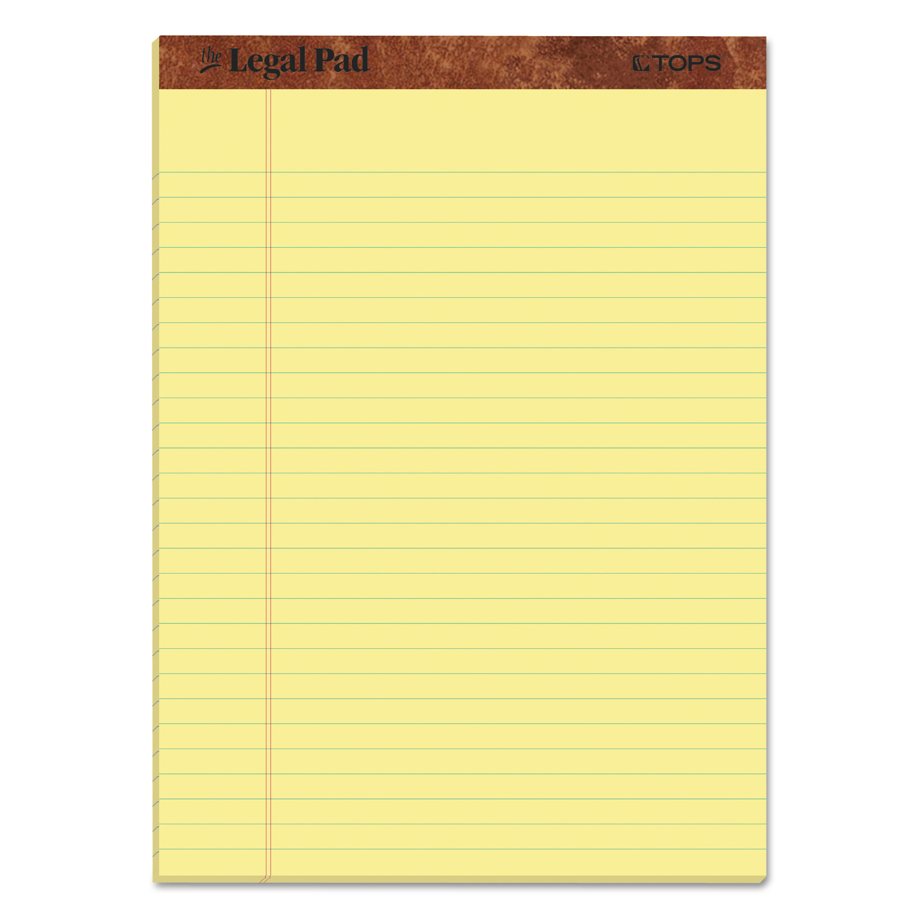 """""""The Legal Pad"""" Ruled Pads, Wide/Legal Rule, 8.5 x 11.75, Canary, 50 Sheets, Dozen"""