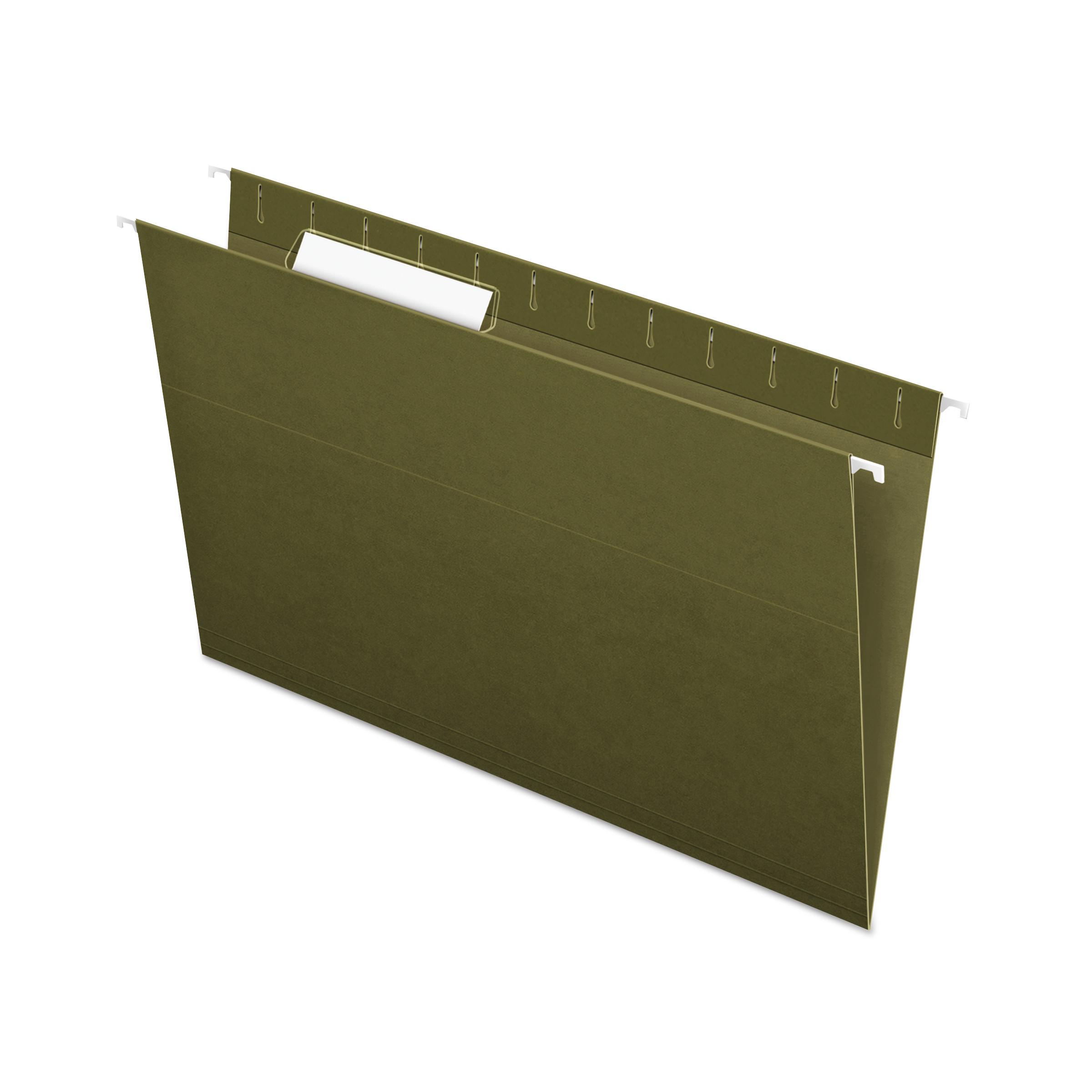 Standard Green Hanging Folders, Legal Size, 1/3-Cut Tab, Standard Green, 25/Box