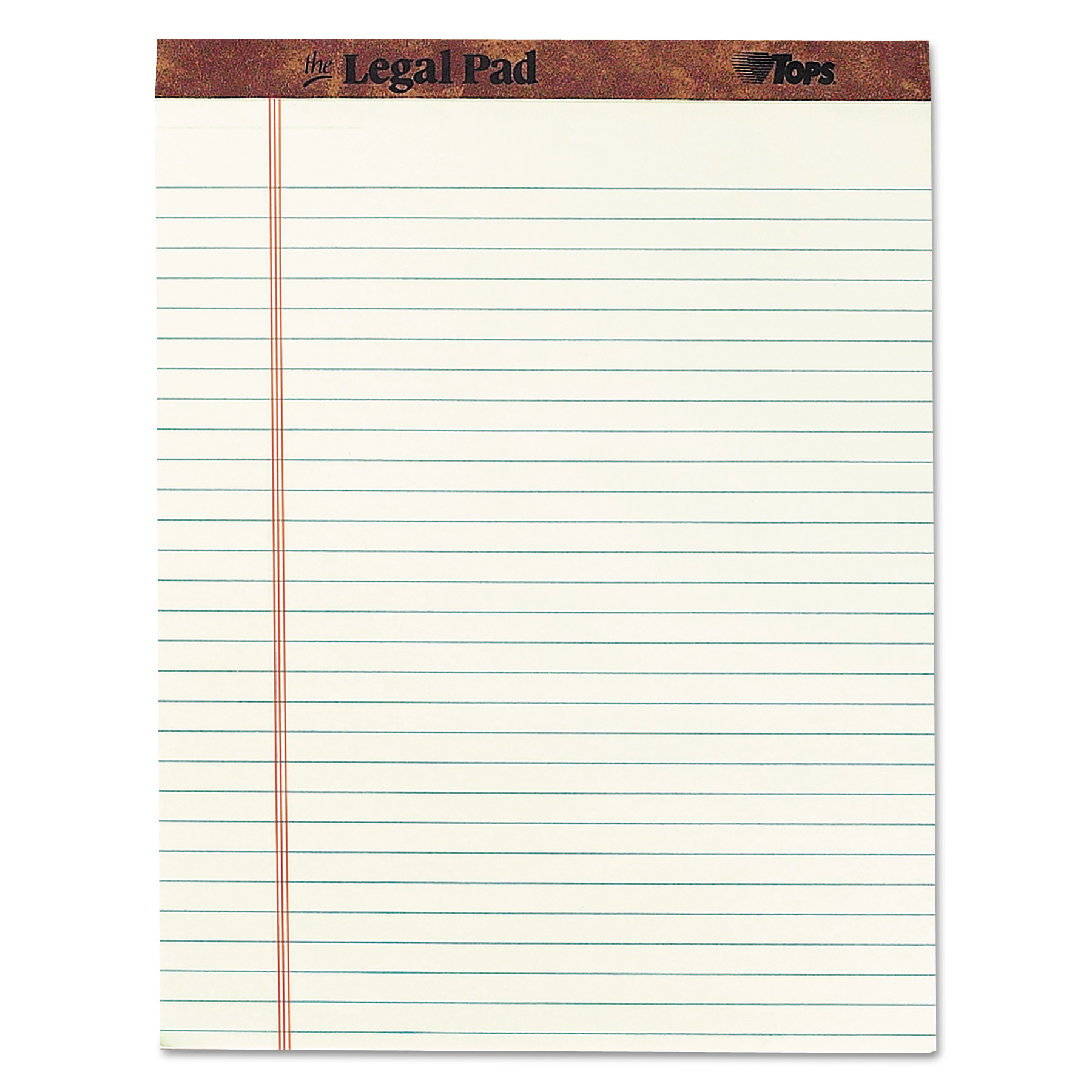 """""""The Legal Pad"""" Ruled Pads, Wide/Legal Rule, 36.36 x 36.736, Green Tint, 360  Sheets, DZ"""