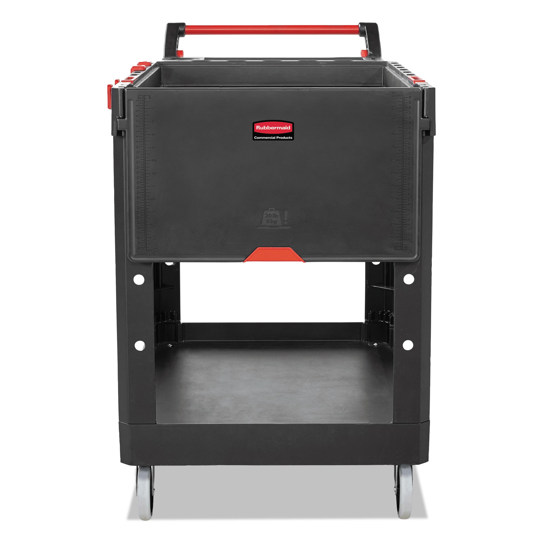 Heavy Duty Adaptable Utility Cart, 2 Shelves, 25.2w x 51.5d x 36h, Black