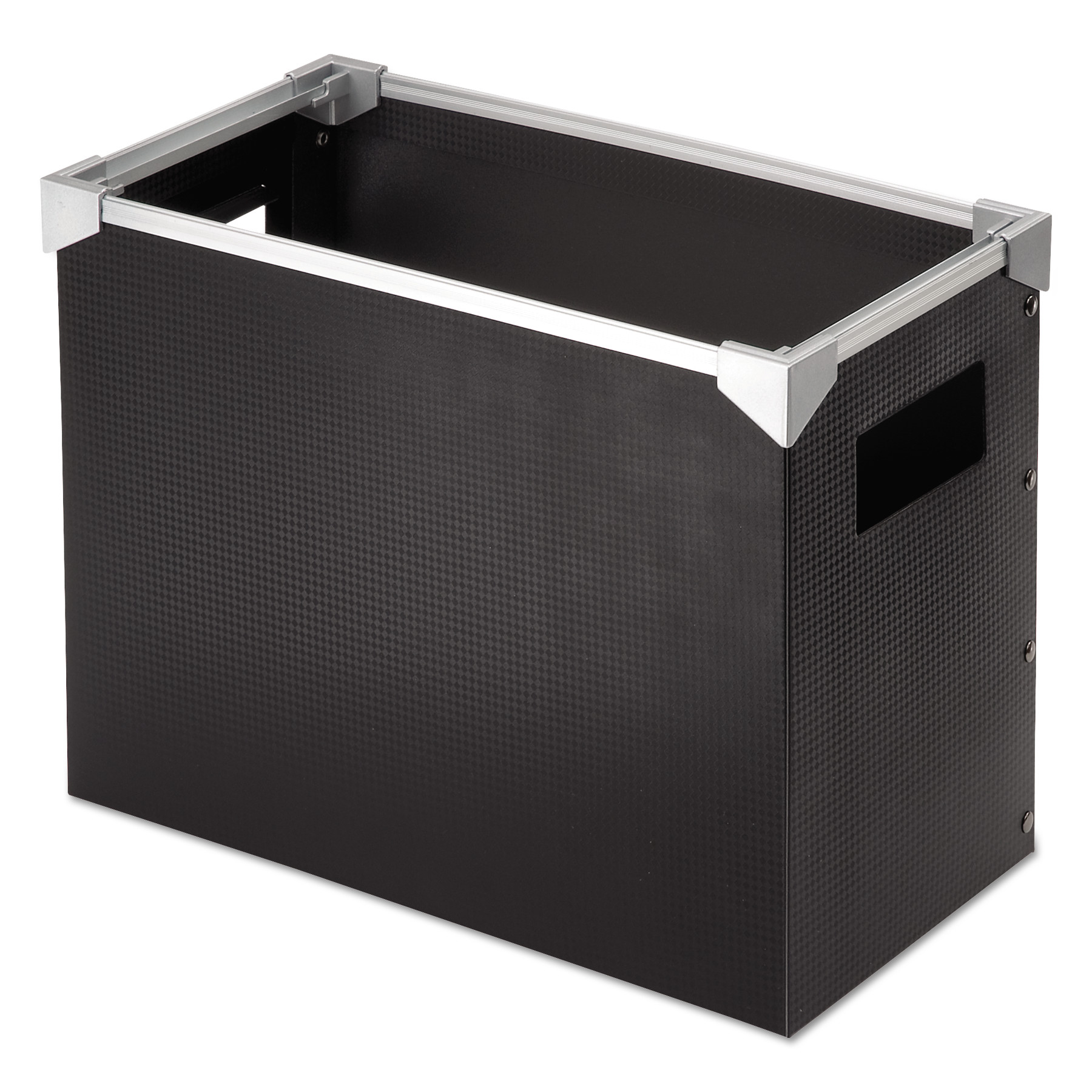 Poly Desktop Storage Box, Letter Size, Black - Goddess Products, Inc