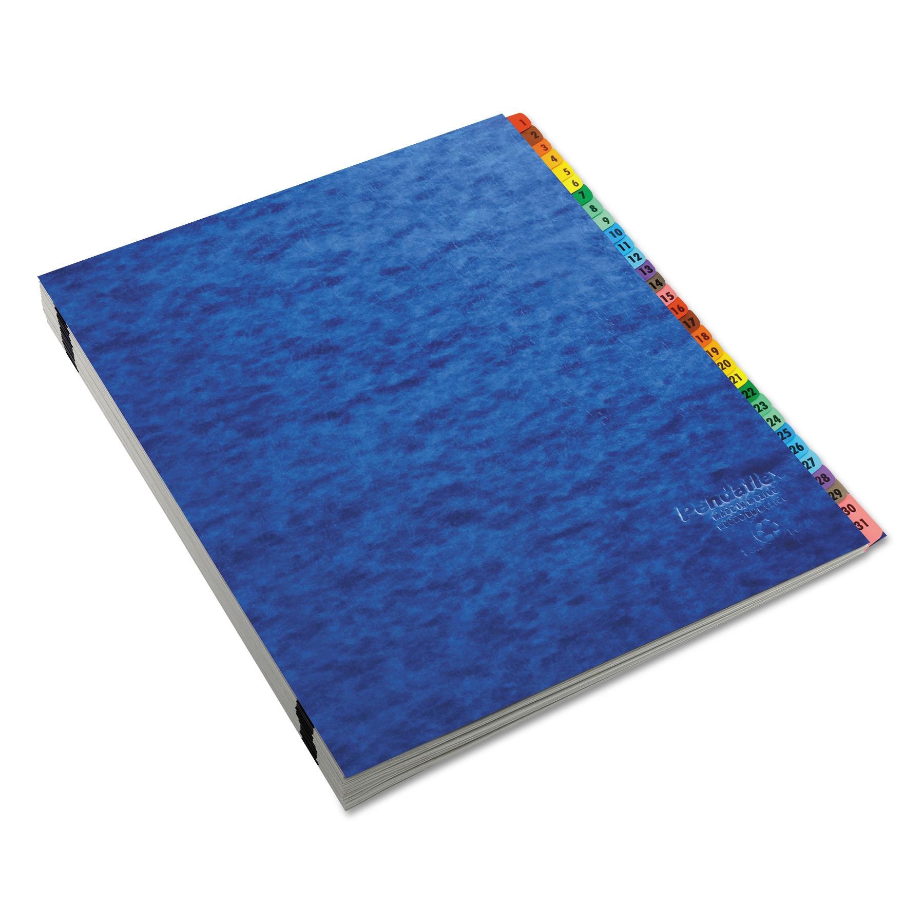 Expanding Desk File, A-Z, Letter, Acrylic-Coated Pressboard, Blue