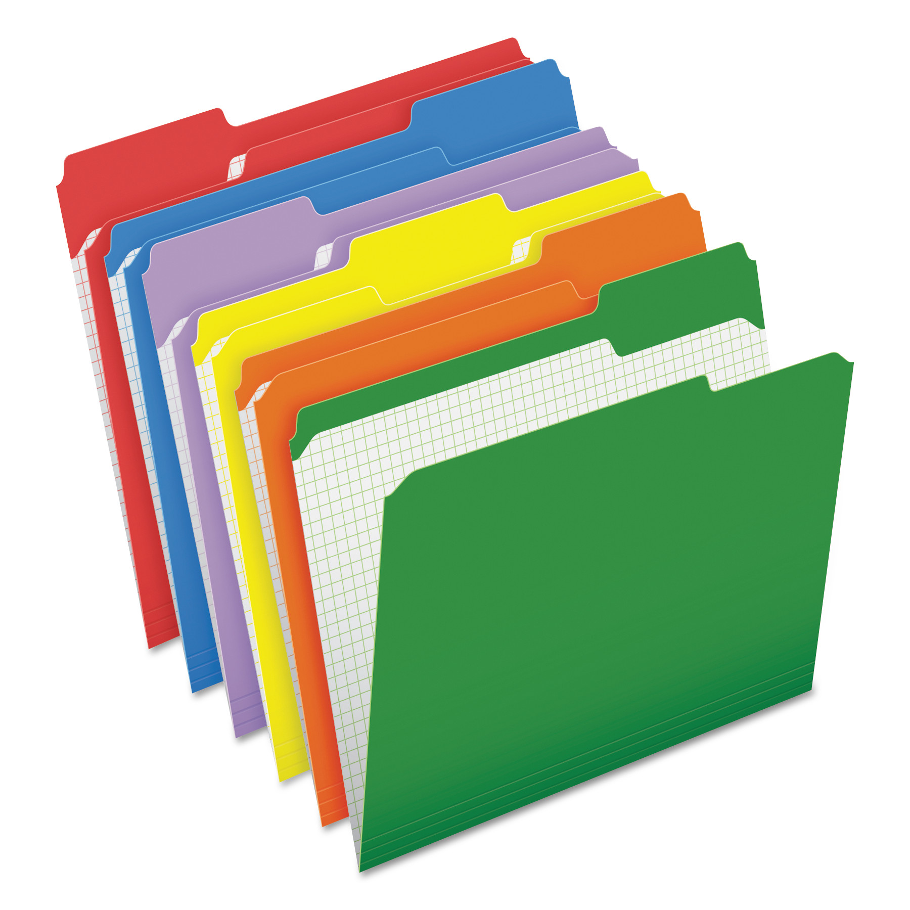 Double-Ply Reinforced Top Tab Colored File Folders, 1/3-Cut Tabs, Letter  Size, Assorted, 100/Box