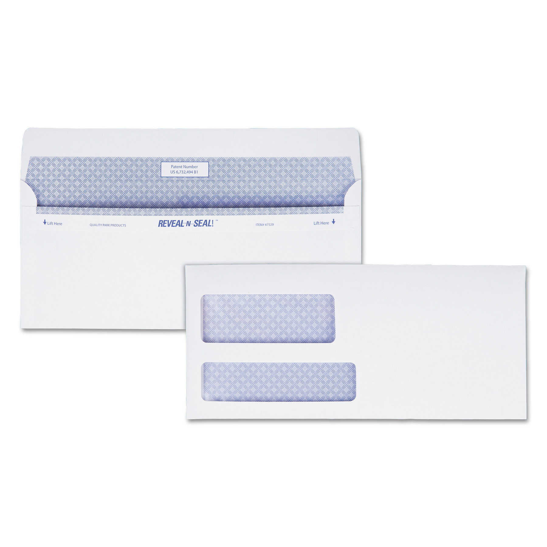 Reveal-N-Seal Envelope, #9, Commercial Flap, Self-Adhesive Closure, 3.88 x 8.88, White, 500/Box