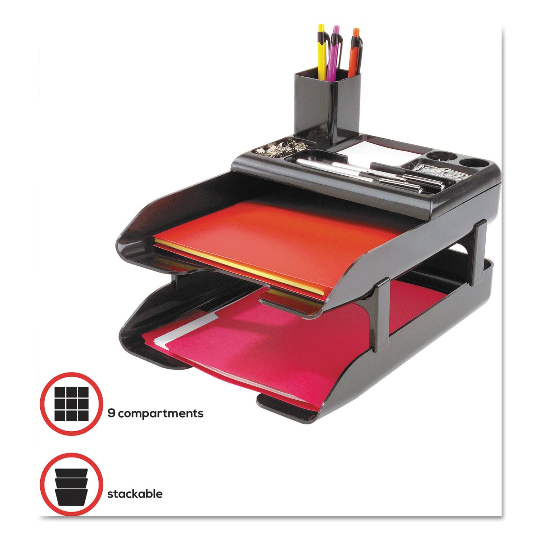 Desk Tray Set W Pencil Cup Organizer Amp Risers 10 1 4 X 2