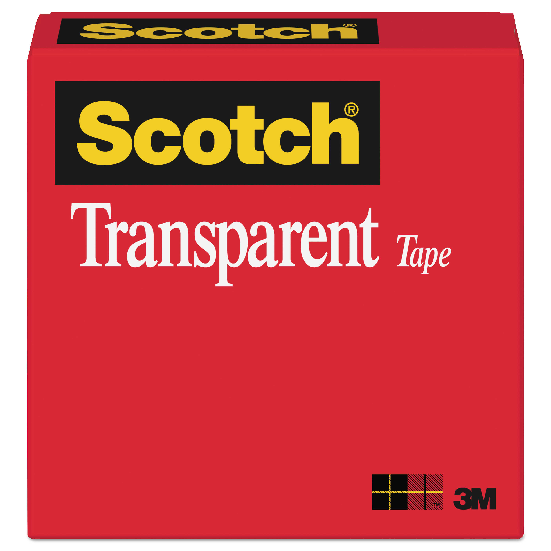 """Transparent Tape, 1"""" Core, 0.75"""" x 36 yds, Transparent"""