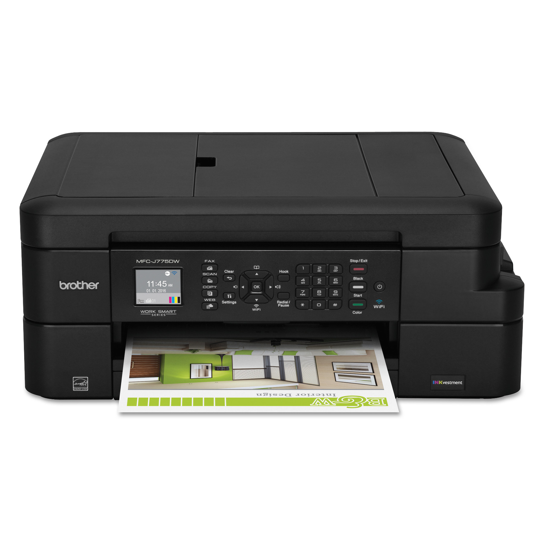 MFC-J775DW All-In-One Inkjet Printer, Copy/Fax/Print/Scan