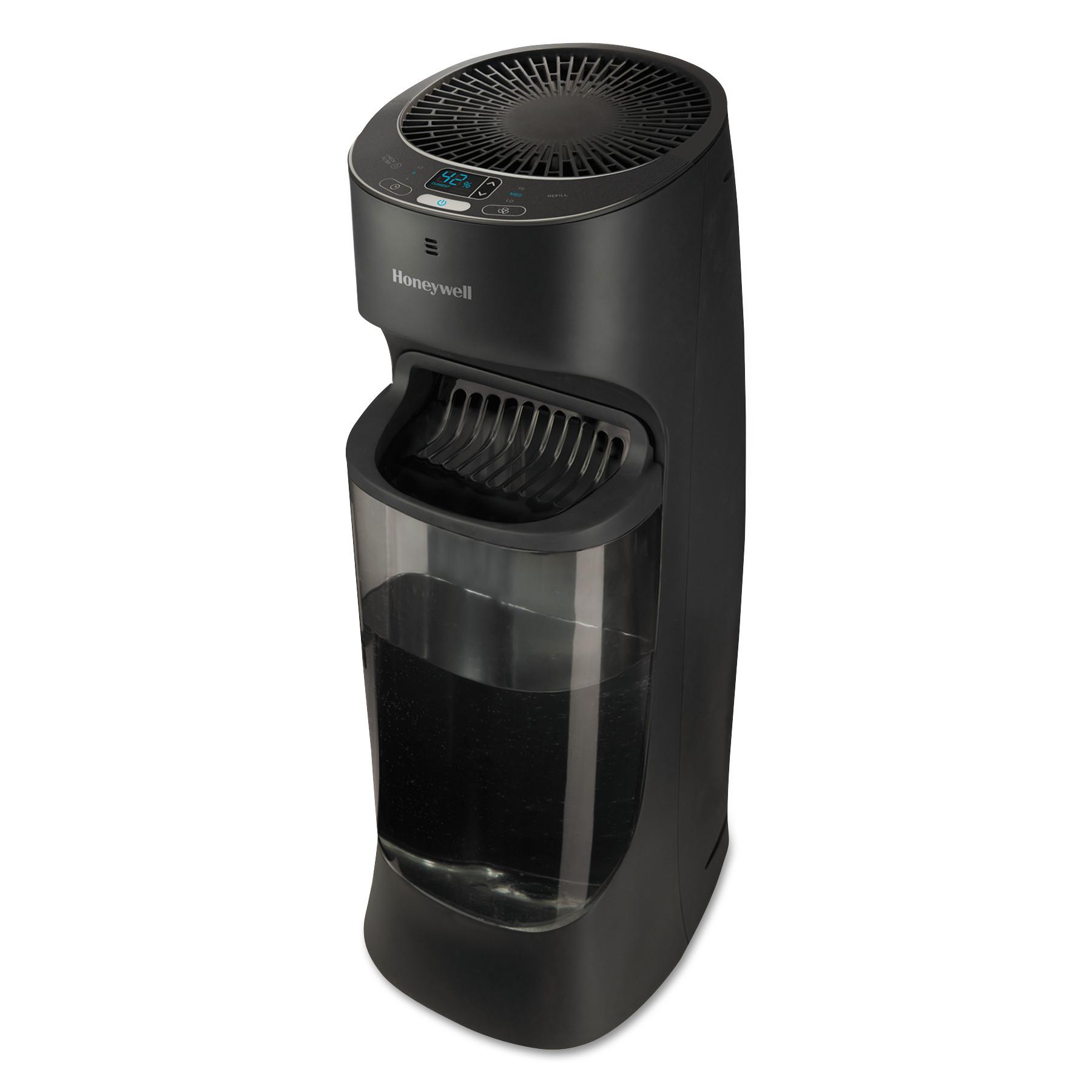 Top Fill Tower Cool Mist Humidifier, 1.7 gal, 9.8w x 8.7d x 24.7h, Black