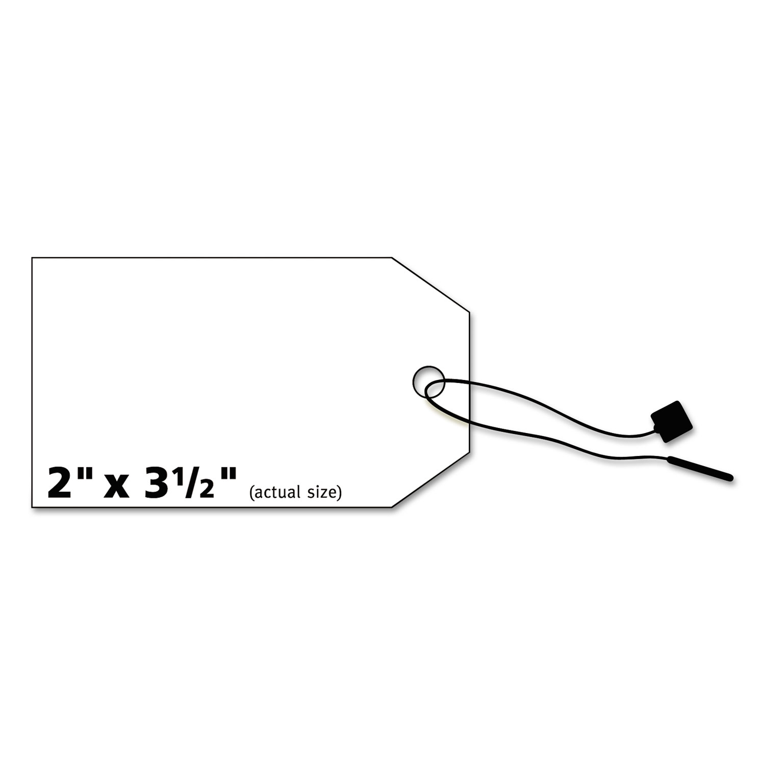 image regarding Printable Tags With Strings called Printable Rectangular Tags with Strings, 2 x 3 1/2, Matte White, 96/Pack