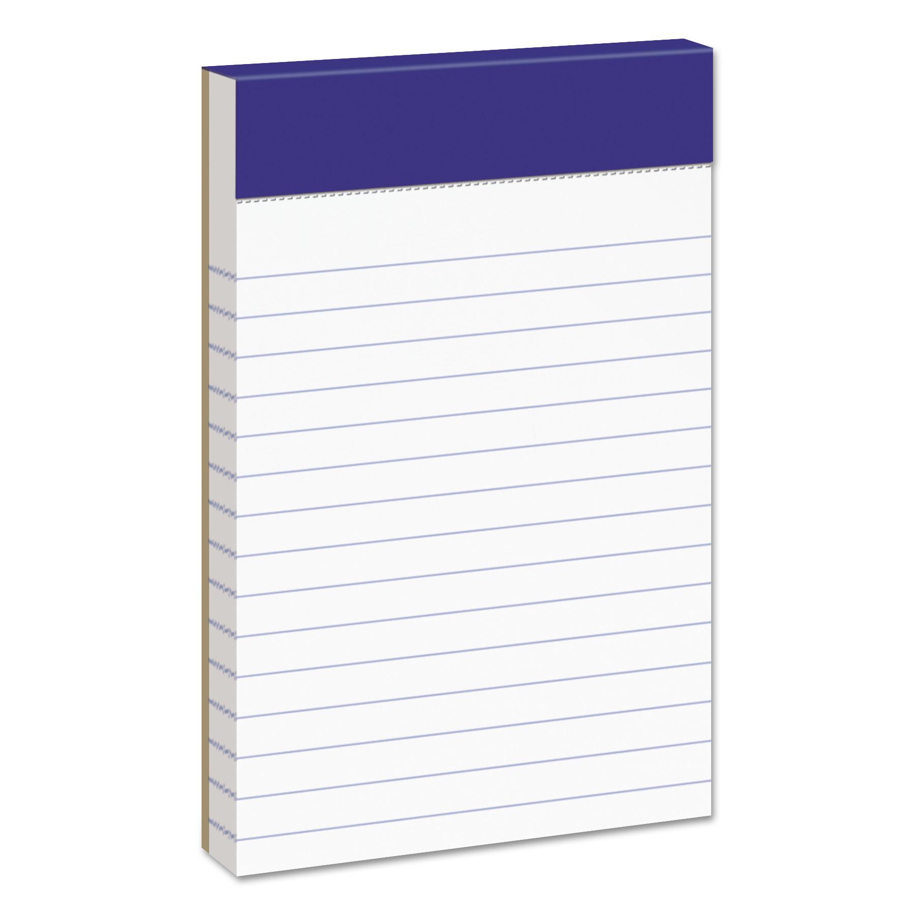 White 50 Sheets 2 Dozens Narrow Perforated Writing Pad 5 x 8