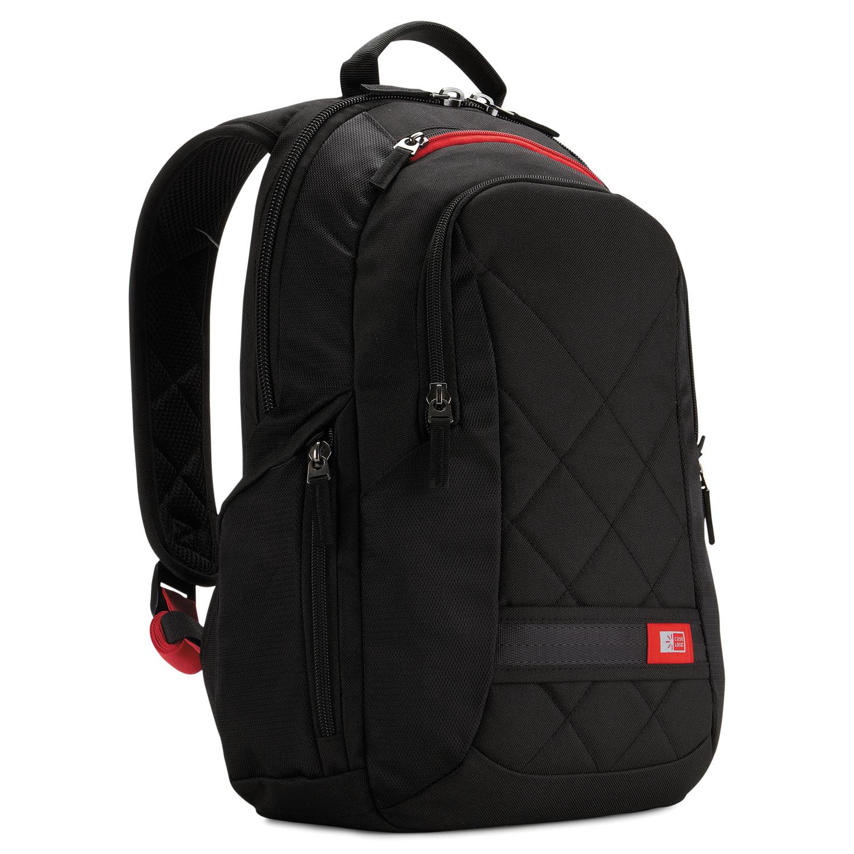 "Diamond 14"" Backpack, 6.3"" x 13.4"" x 17.3"", Black"