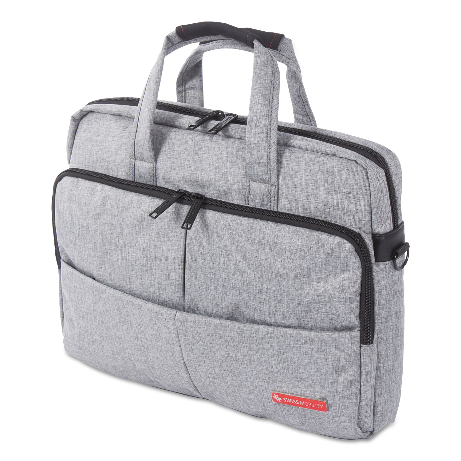 """Sterling Slim Briefcase, Holds Laptops 15.6"""", 3"""" x 3"""" x 11.75"""", Gray"""