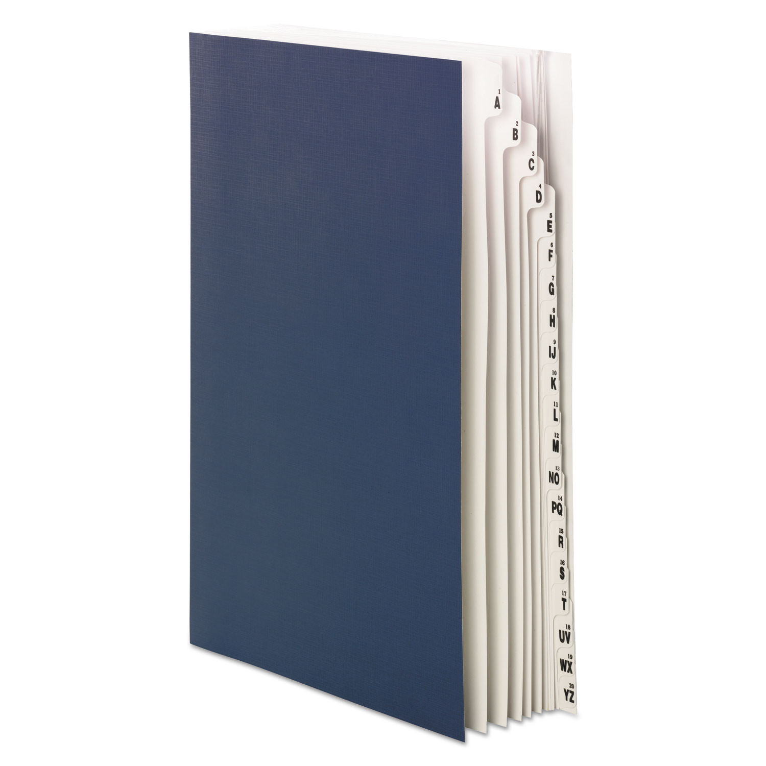 Expandable Indexed Sorter, 1-20/A-Z Index, Legal Size, Navy Blue