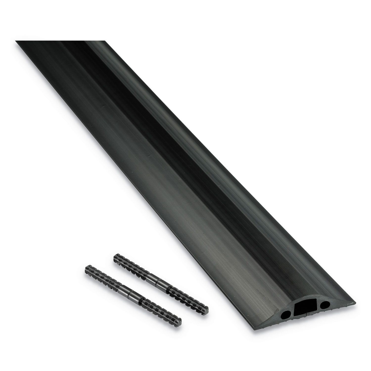 """Medium-Duty Floor Cable Cover, 2.63"""" Wide x 30 ft Long, Black"""