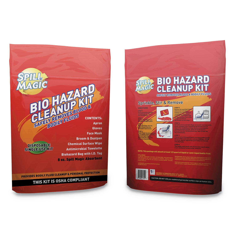 Biohazard Spill CleanUp, 3/4″ X 6″ X 9″