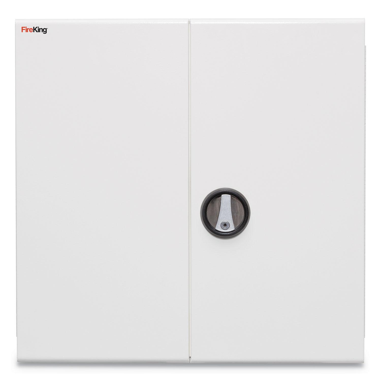 Medical Storage Cabinet With Cam Lock 24w X 24d X 13h White Jad