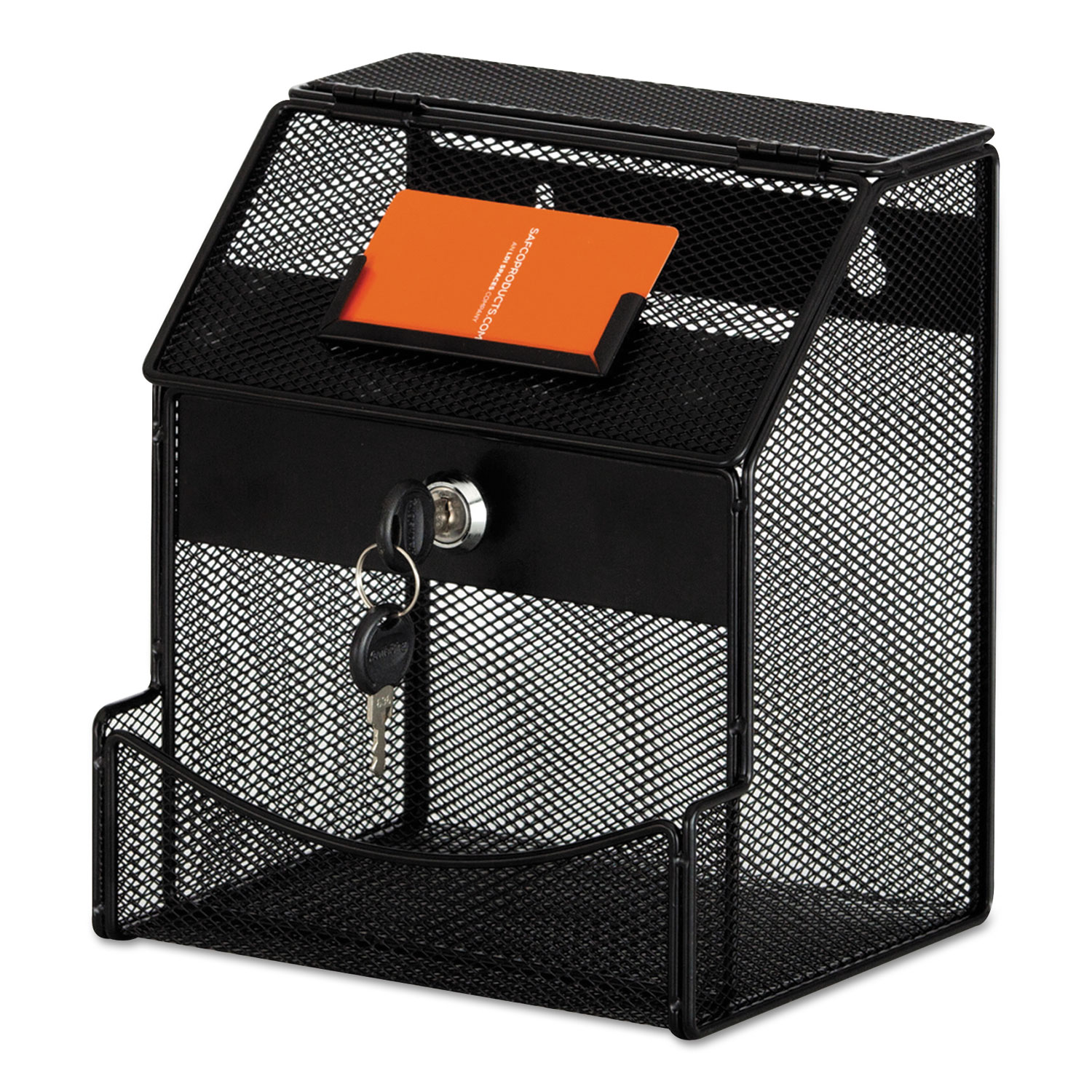 Onyx Mesh Collection Box, 7 1/4 x 8 1/2 x 6, Steel, Black