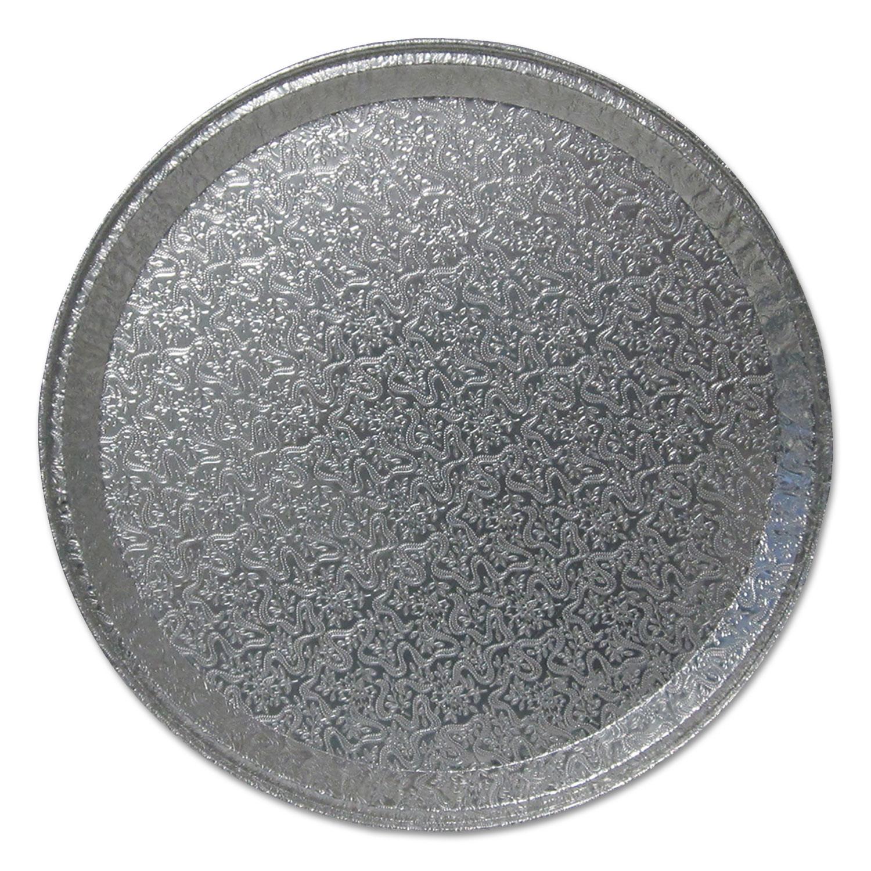 "Aluminum Cater Trays, 12"" Dia., Flat, 50/Carton"