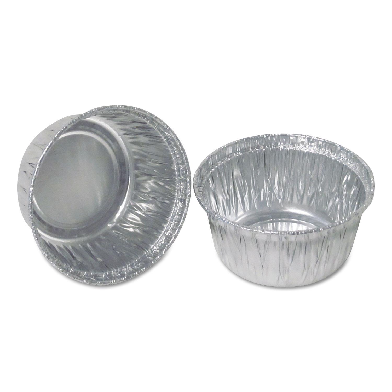 """Aluminum Round Containers, 3"""" Dia., 4 oz Cup, 1000/Carton"""