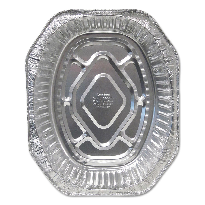 Aluminum Roaster Pans, Extra-Large Oval, 100/Carton