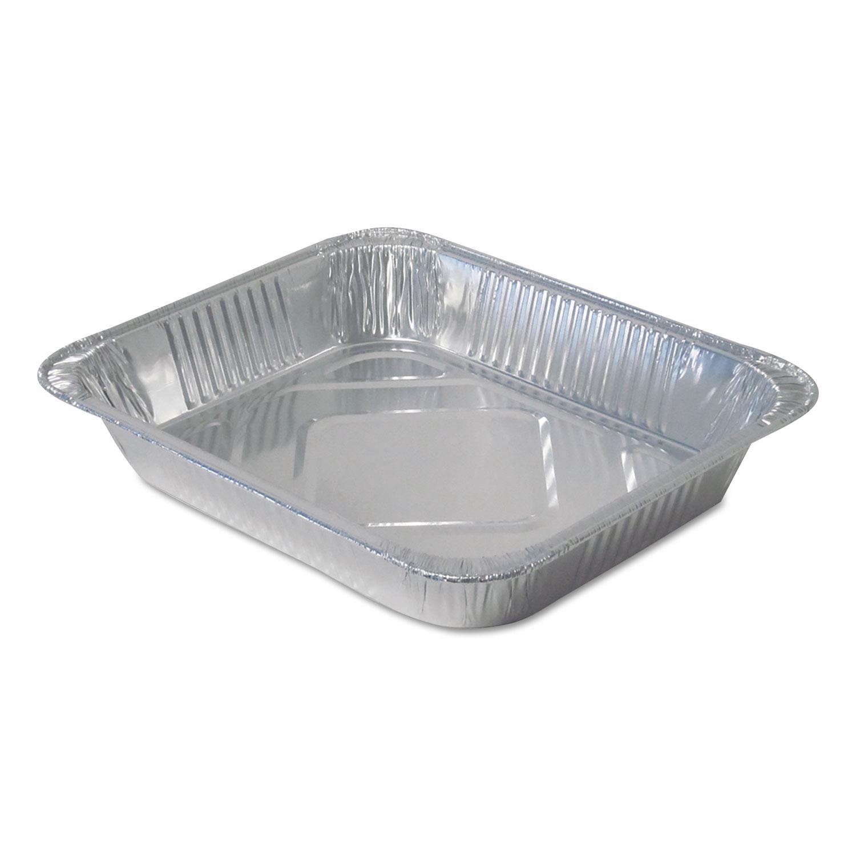 Aluminum Steam Table Pans, Half Size, Medium, 100/Carton