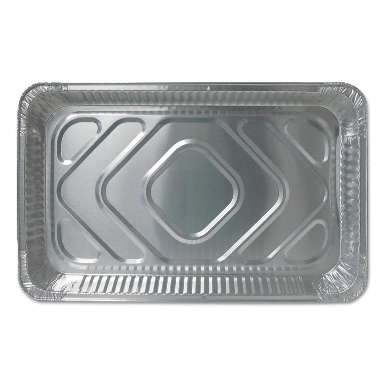 Aluminum Steam Table Pans, Full Size, Medium, 50/Carton