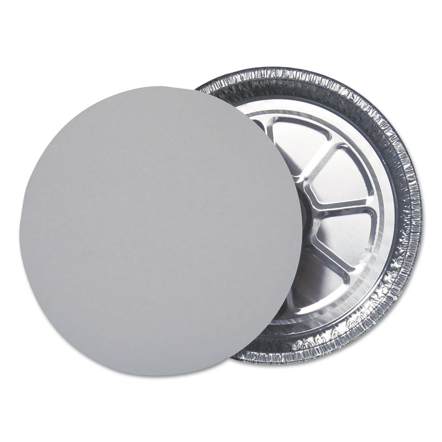 "Flat Foil Board Lids for 9"" Round Containers, 500 /Carton"