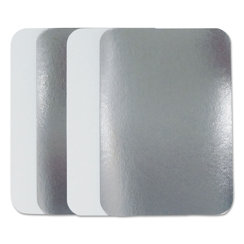 Flat Board Lids for 2.25 lb Oblong Pans, 500 /Carton