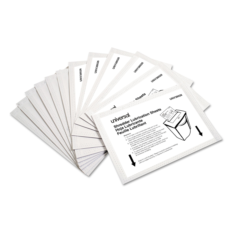 "Shredder Lubricant Sheets, 5.5"" x 2.8"", 24/Pack"