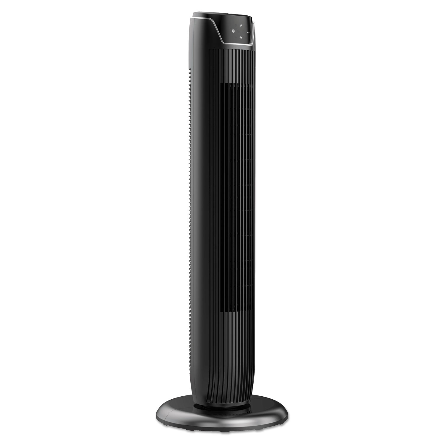 "36"" 3-Speed Oscillating Tower Fan with Remote Control, Plastic, Black"